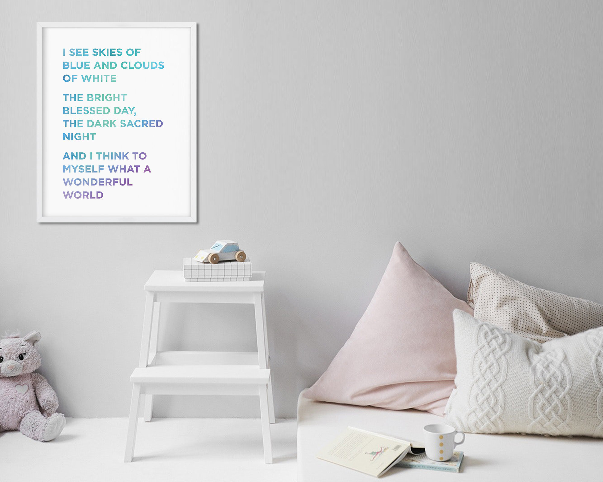 Wonderful World Song Lyrics Print, Louis Armstrong Wall Decor, Digital  Download, Minimalist Typography Wall Art, Nursery Art, Kids Bedroom intended for Wonderful World Wall Decor (Image 28 of 30)