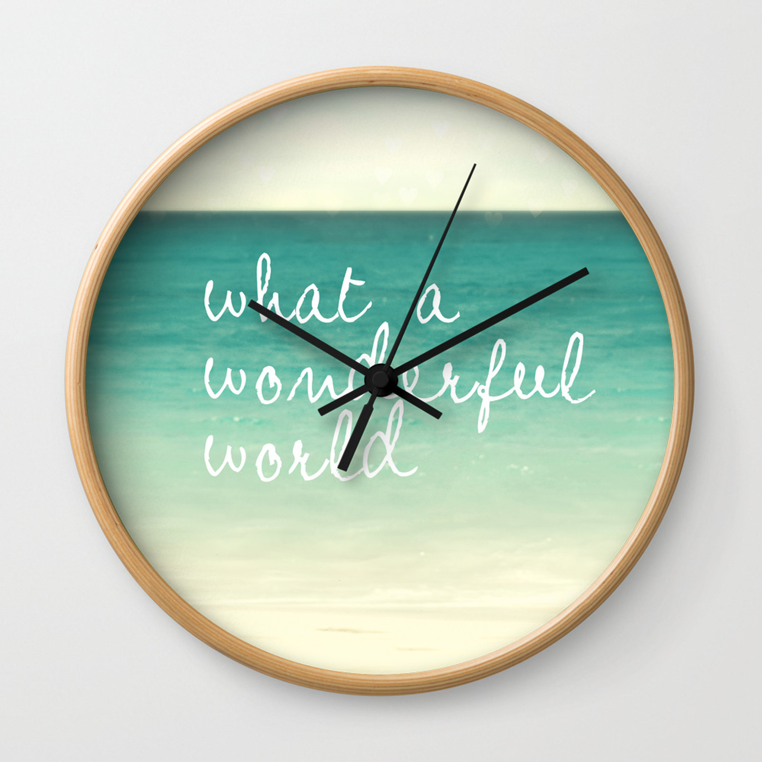 Wonderful World Wall Clock with Wonderful World Wall Decor (Image 29 of 30)