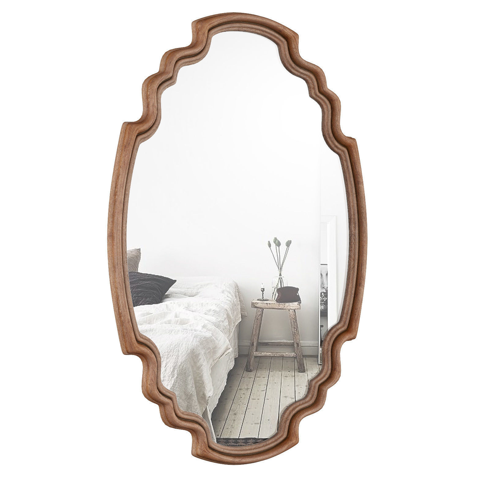 Wood Accent Mirror Oawy2973 | 3d Model Pertaining To Wood Accent Mirrors (View 19 of 30)