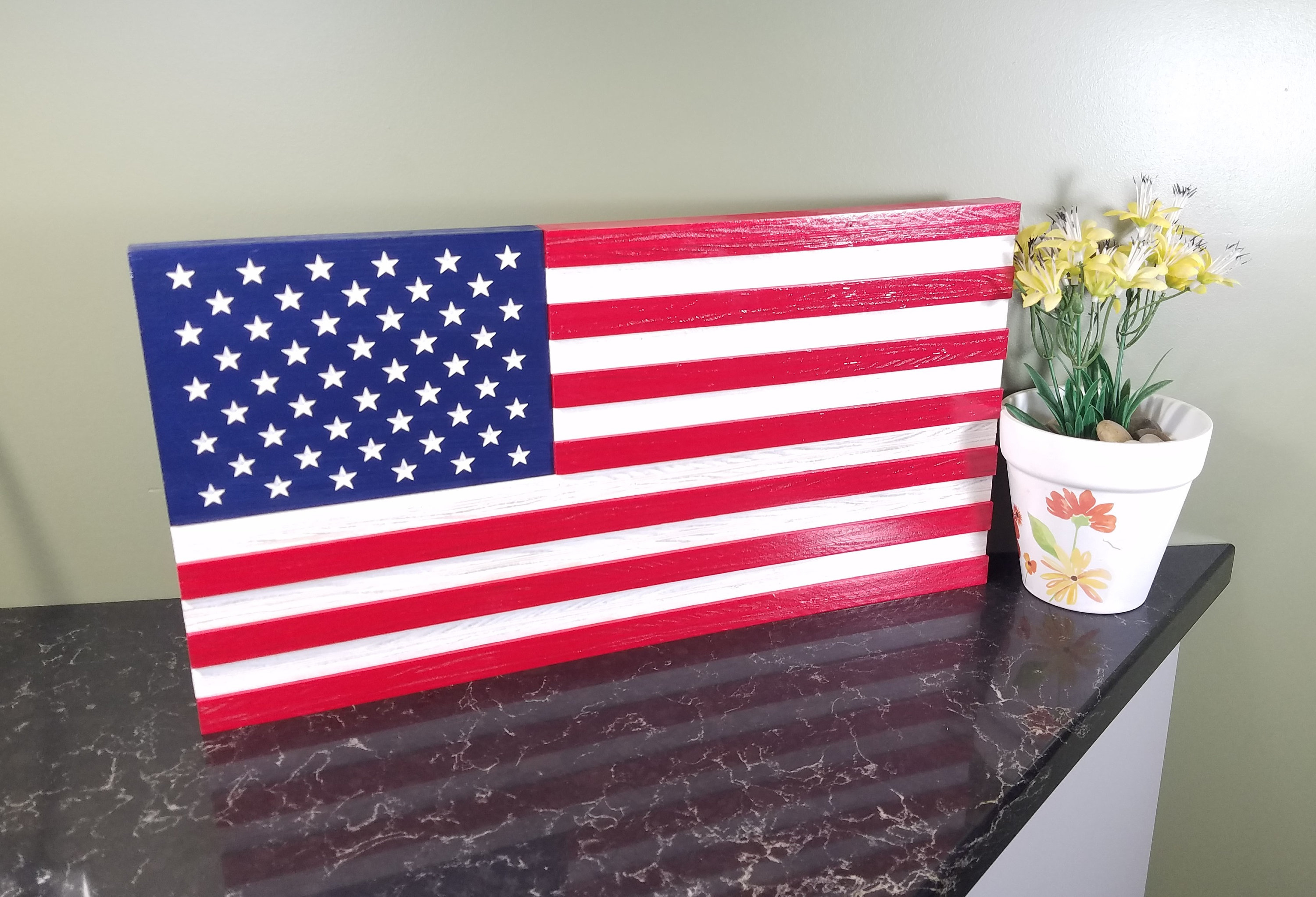 Wood American Flag, Fathers Day Gift, Wooden American Flag, 4Th Of July  Decor, Independence Day Decor, Gift, Flag Wall Art, Rustic Flag, Usa With Regard To American Flag 3D Wall Decor (Image 29 of 30)