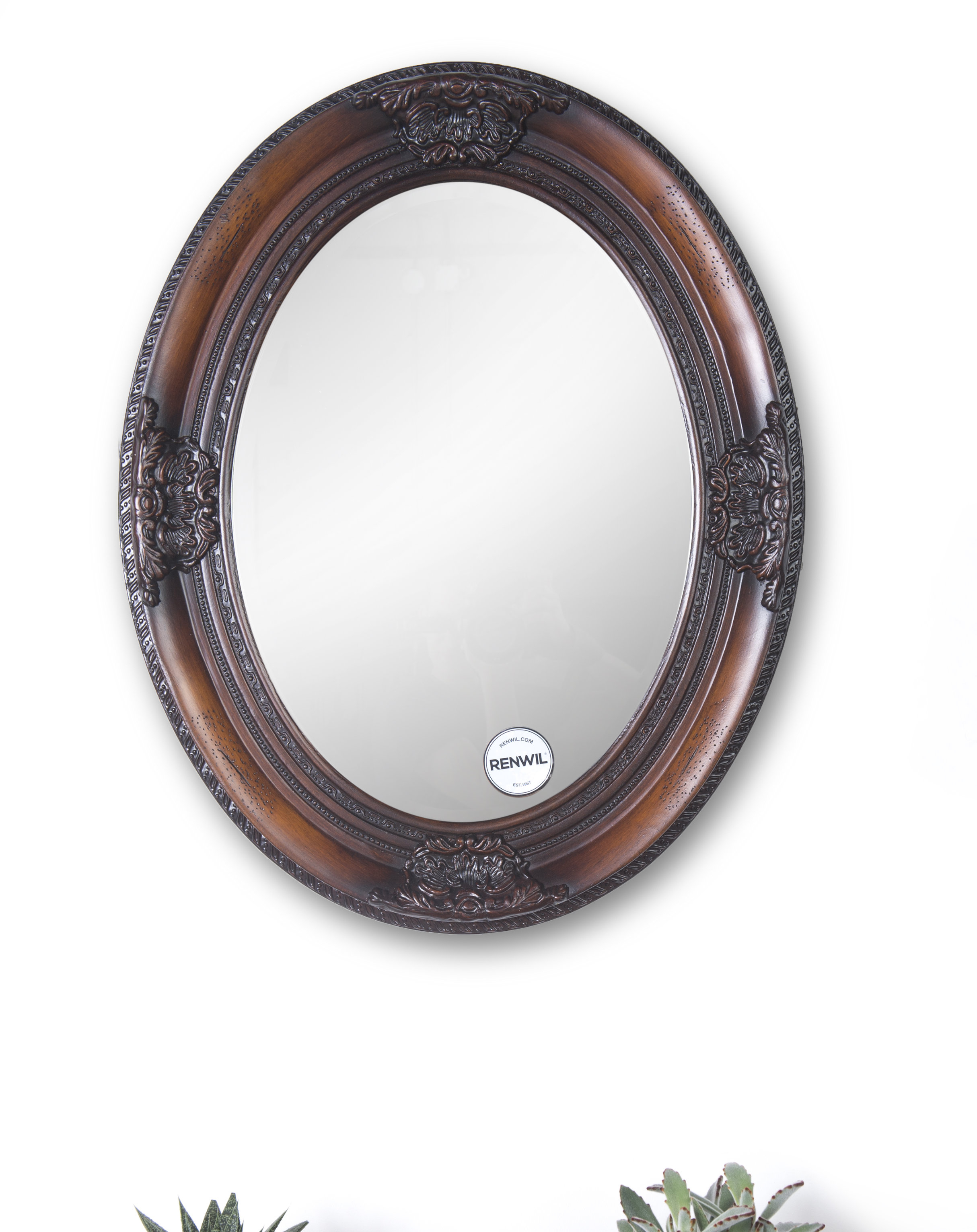 Wood Framed Oval Mirror | Wayfair Intended For Oval Wood Wall Mirrors (View 28 of 30)
