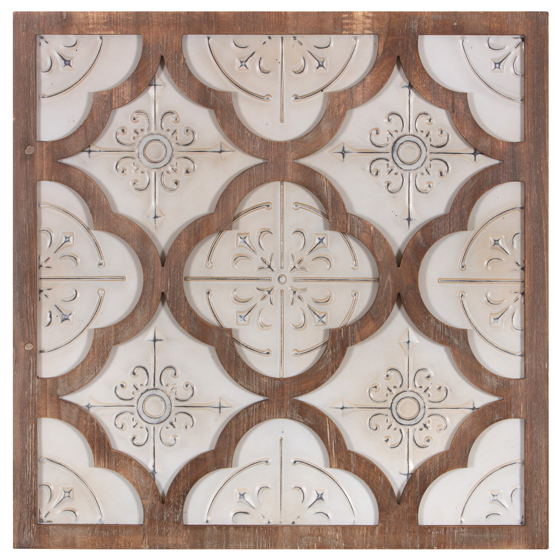 Wood Medallion Wall Decor | Wayfair pertaining to Small Medallion Wall Decor (Image 28 of 30)