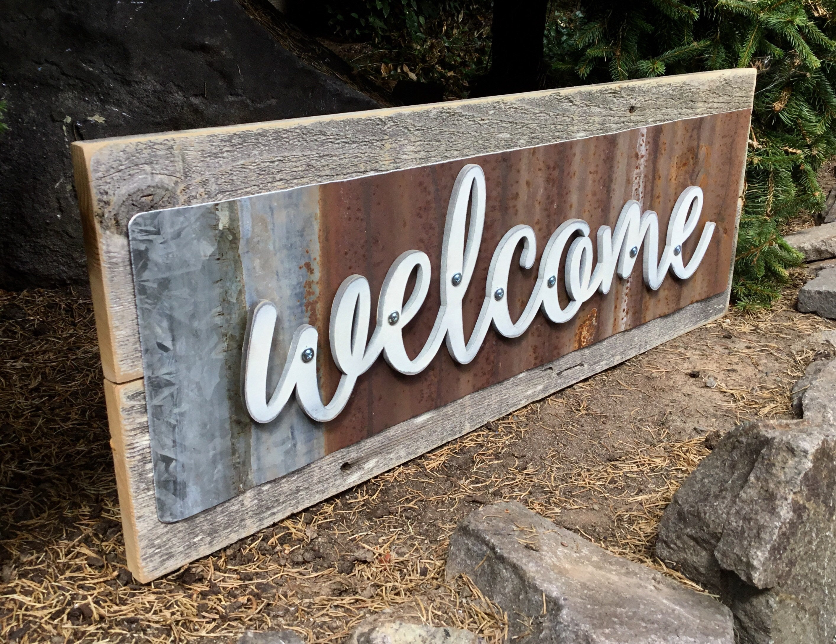 Wood Signs, Welcome Sign, Welcome Wedding Signs, Rustic Home Decor, Rustic  Wall Decor, Rustic Decor, Rustic, Welcome Sign For Front Porch regarding Tree Welcome Sign Wall Decor (Image 29 of 30)