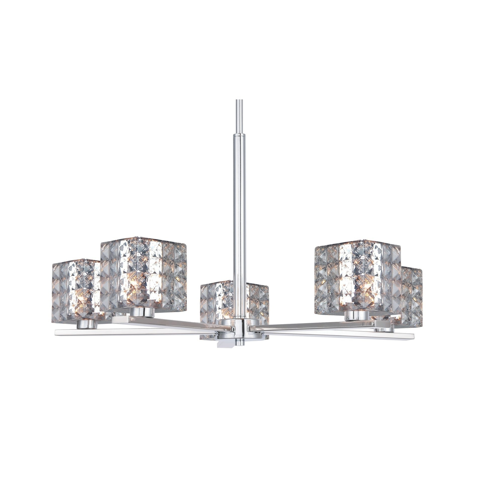 Woodbridge 17315chrle Claudia 5l Chandelier W/ Led With Regard To Hewitt 4 Light Square Chandeliers (View 24 of 30)