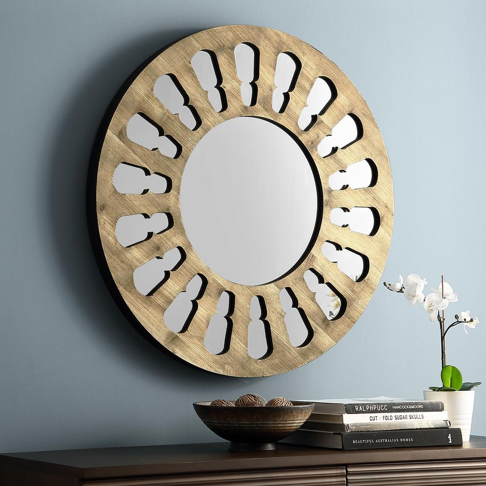 """Wooden Oval Mirror On Stand — Mom's Tamales From """"warmer Pertaining To Oval Wood Wall Mirrors (View 29 of 30)"""