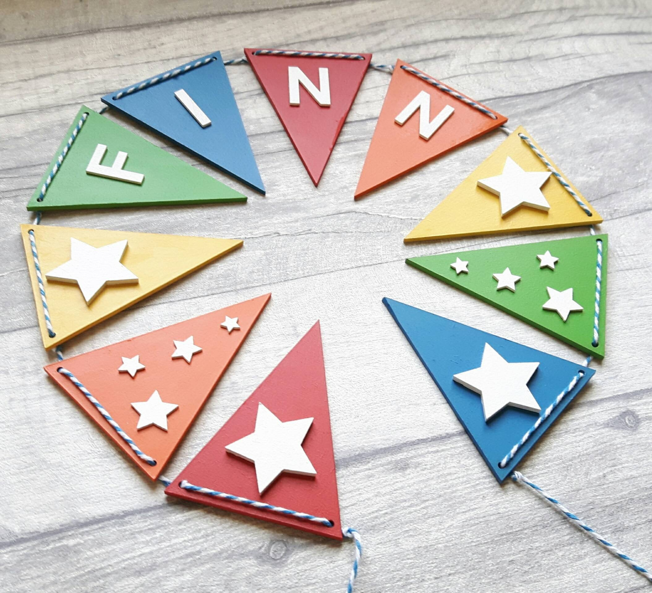 Wooden Star Bunting (View 20 of 30)