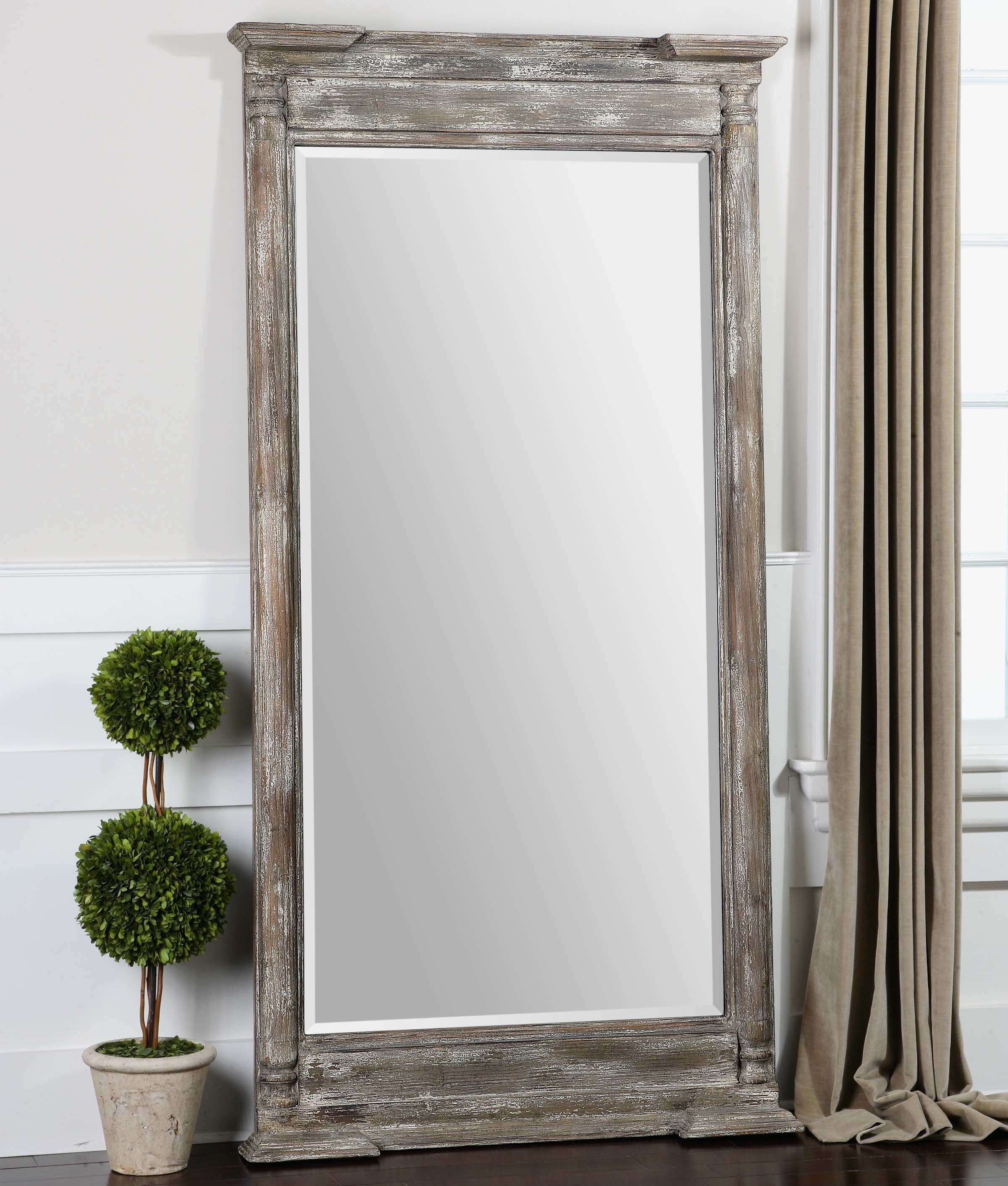 Wooden Wall Mirror Intended For Epinal Shabby Elegance Wall Mirrors (View 30 of 30)