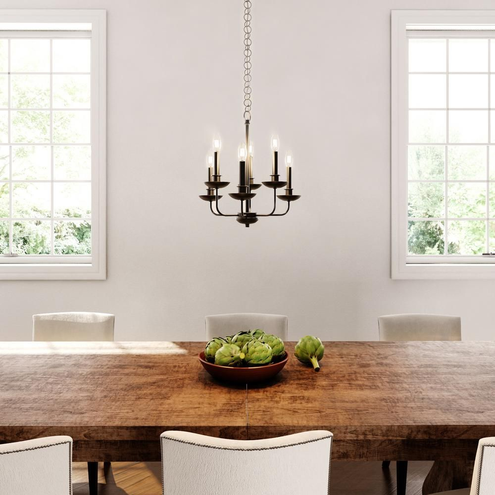 World Imports Colonial 6 Light Euro Bronze Chandelier Within Wadlington 6 Light Single Cylinder Pendants (View 11 of 30)