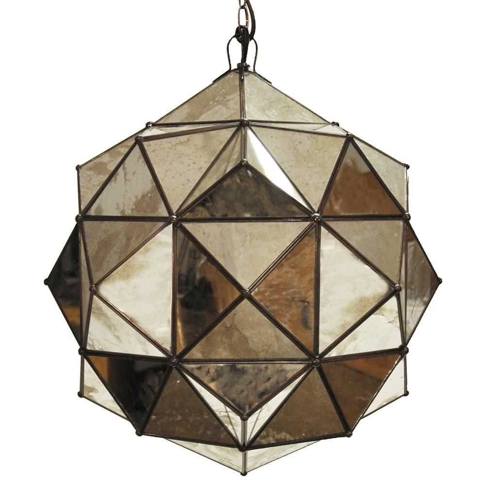 Worlds Away Valencia Round Clear Glass Faceted Pendant Intended For Hydetown 1 Light Single Geometric Pendants (View 16 of 30)