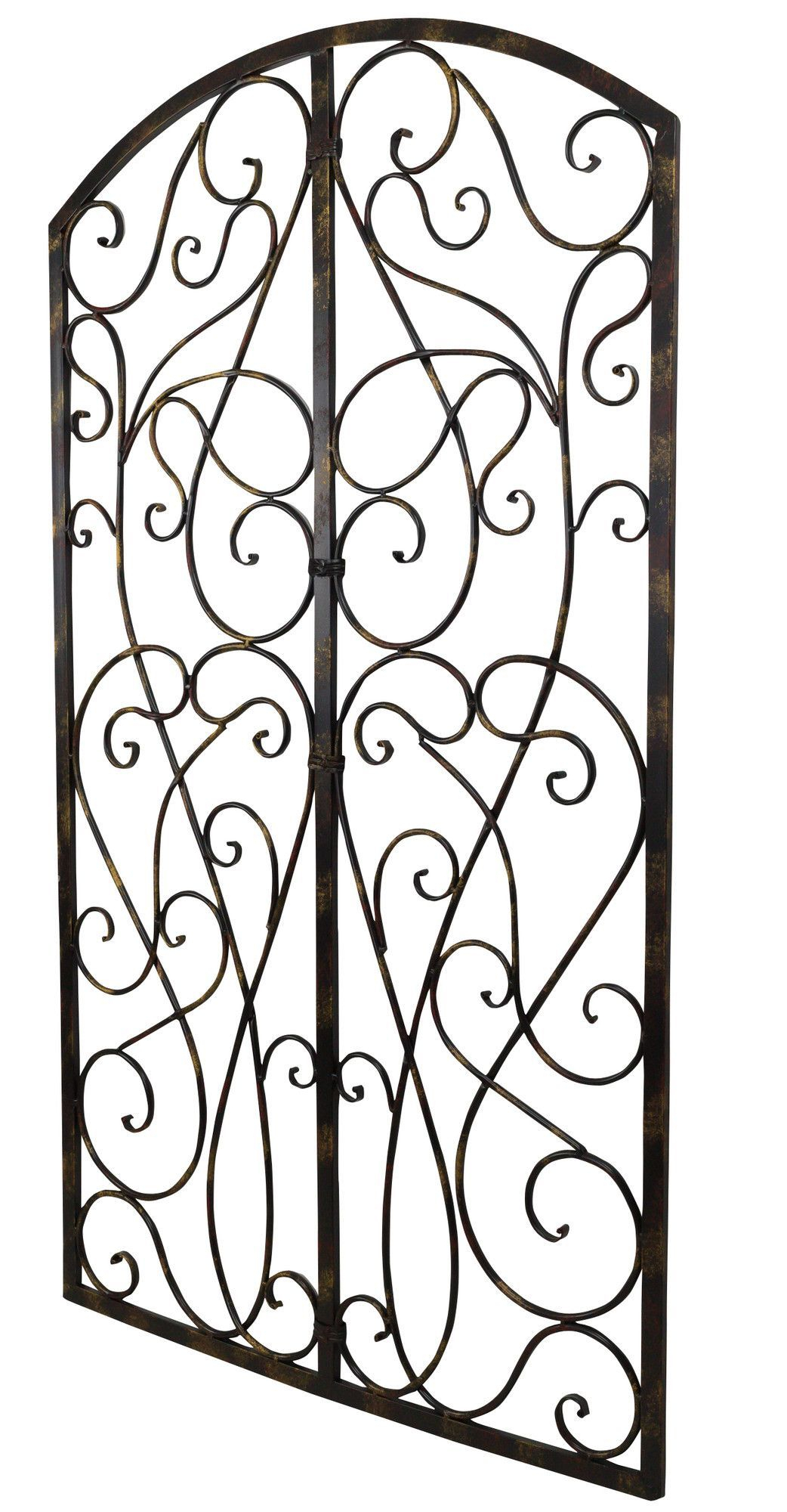 Wrought Iron Scroll Panel Wall Décor | Gates And Fences With Scroll Panel Wall Decor (View 29 of 30)