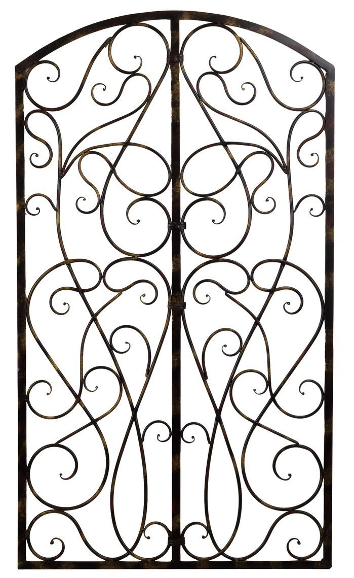Wrought Iron Scroll Panel Wall Décor | Home Ideas | Wall with Scroll Panel Wall Decor (Image 30 of 30)
