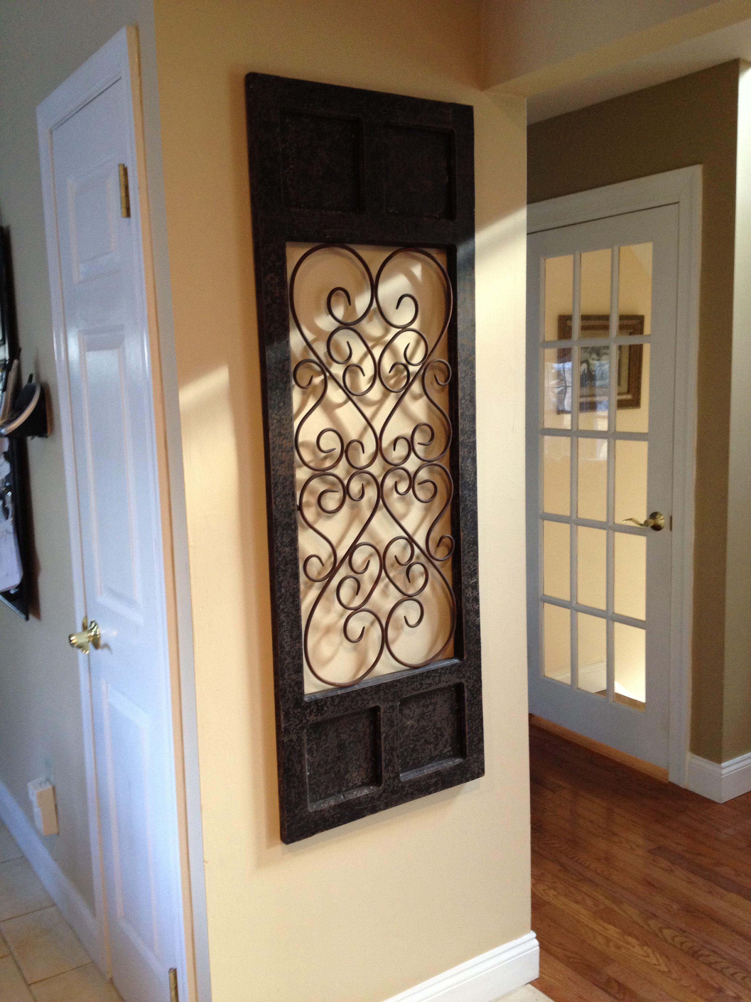 Wrought Iron Wall Decor. I Love Wrought Iron For The Walls within Brown Wood And Metal Wall Decor (Image 30 of 30)