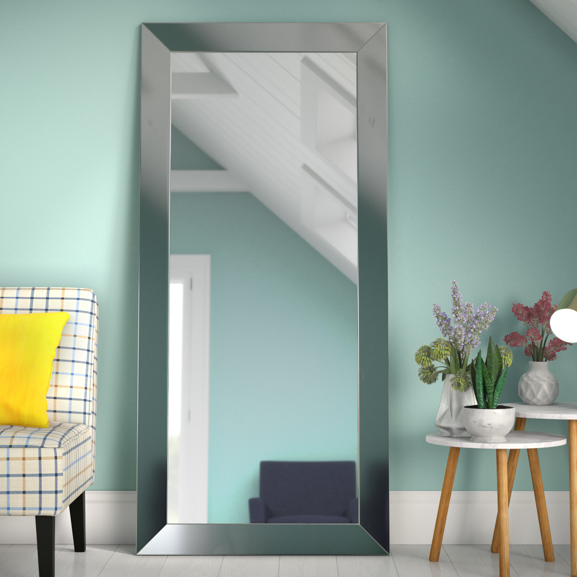 Wrought Studio Dalessio Wide Tall Full Length Mirror Within Dalessio Wide Tall Full Length Mirrors (View 2 of 30)