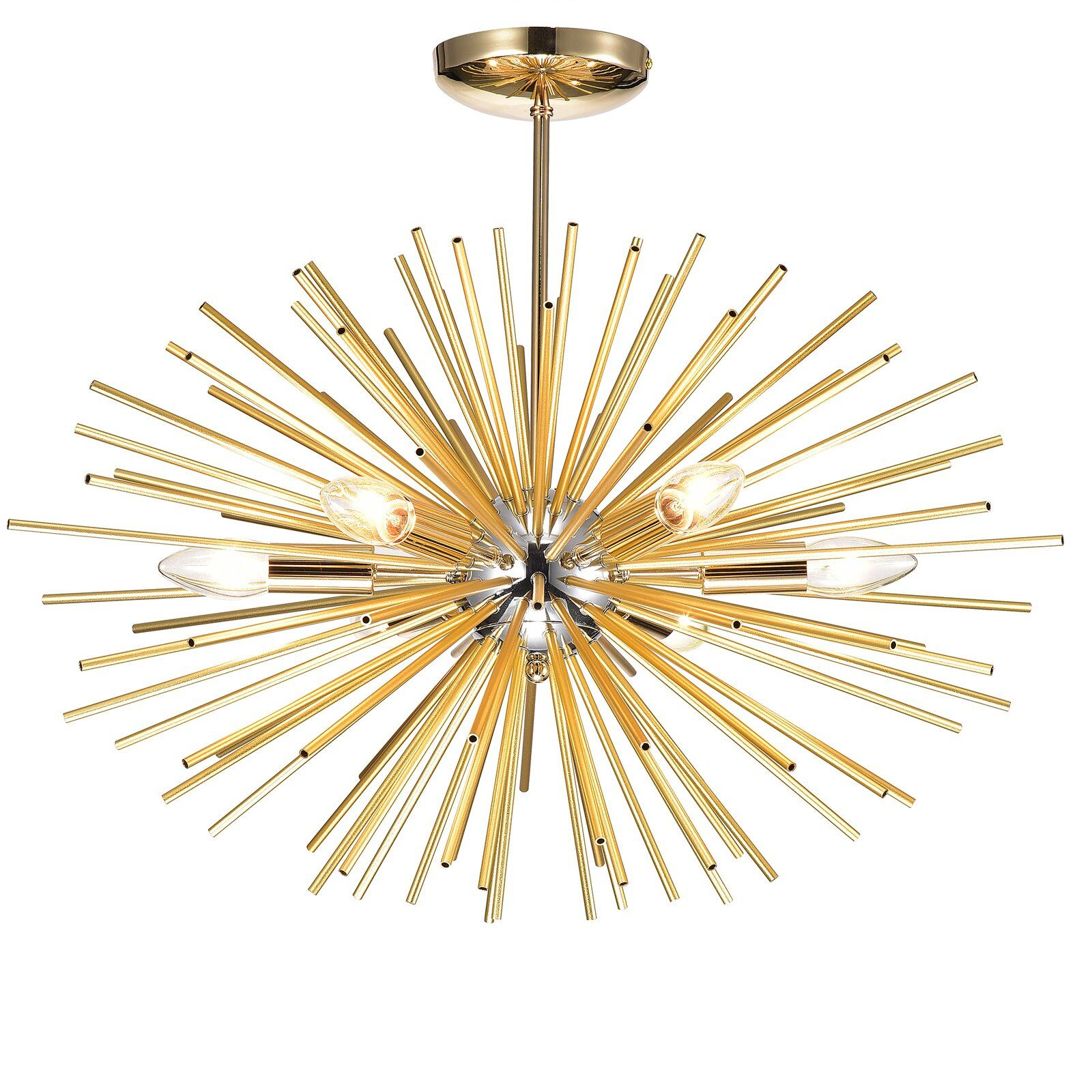 Wrought Studio Mosqueda 6 Light Sputnik Chandelier In 2019 Pertaining To Nelly 12 Light Sputnik Chandeliers (View 13 of 30)