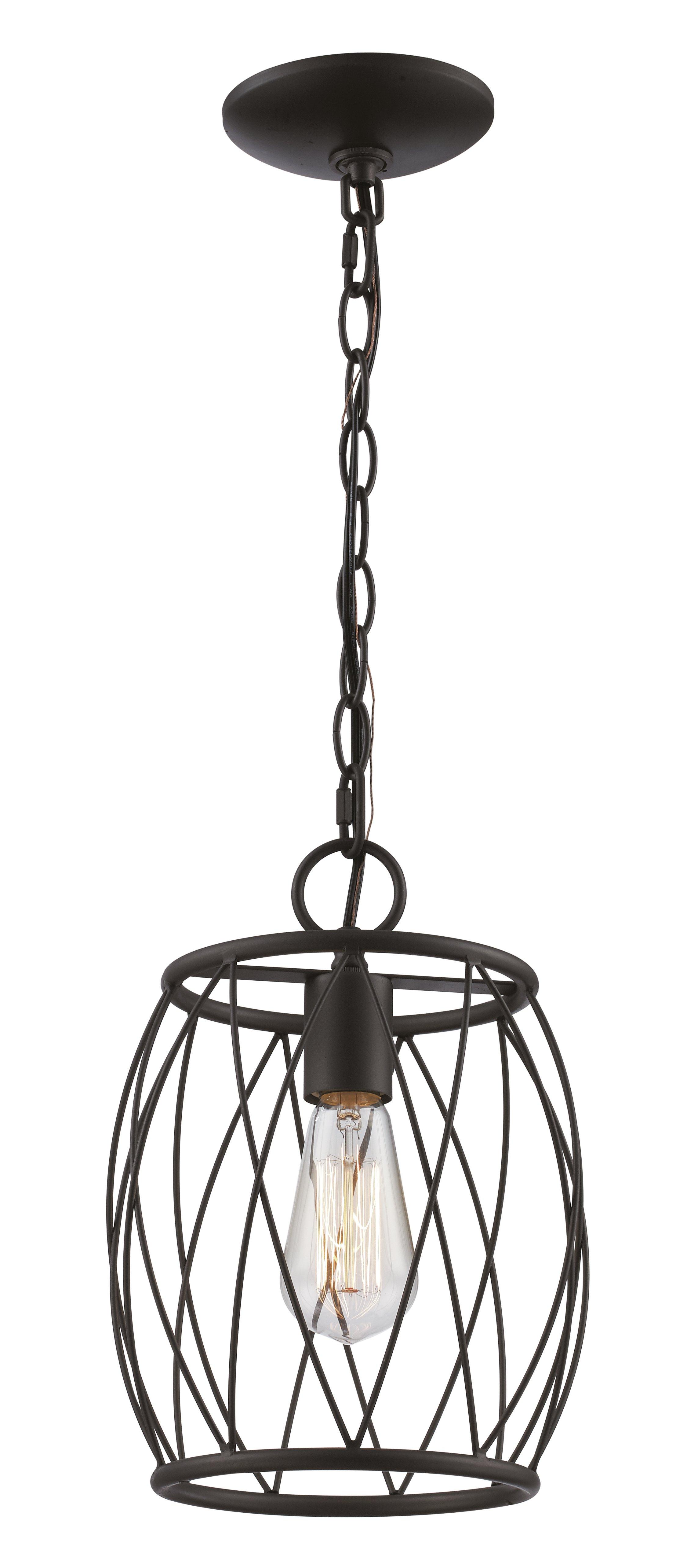 Wrought Studio Poynter 1 Light Single Cylinder Pendant Within Irwin 1 Light Single Globe Pendants (View 29 of 30)