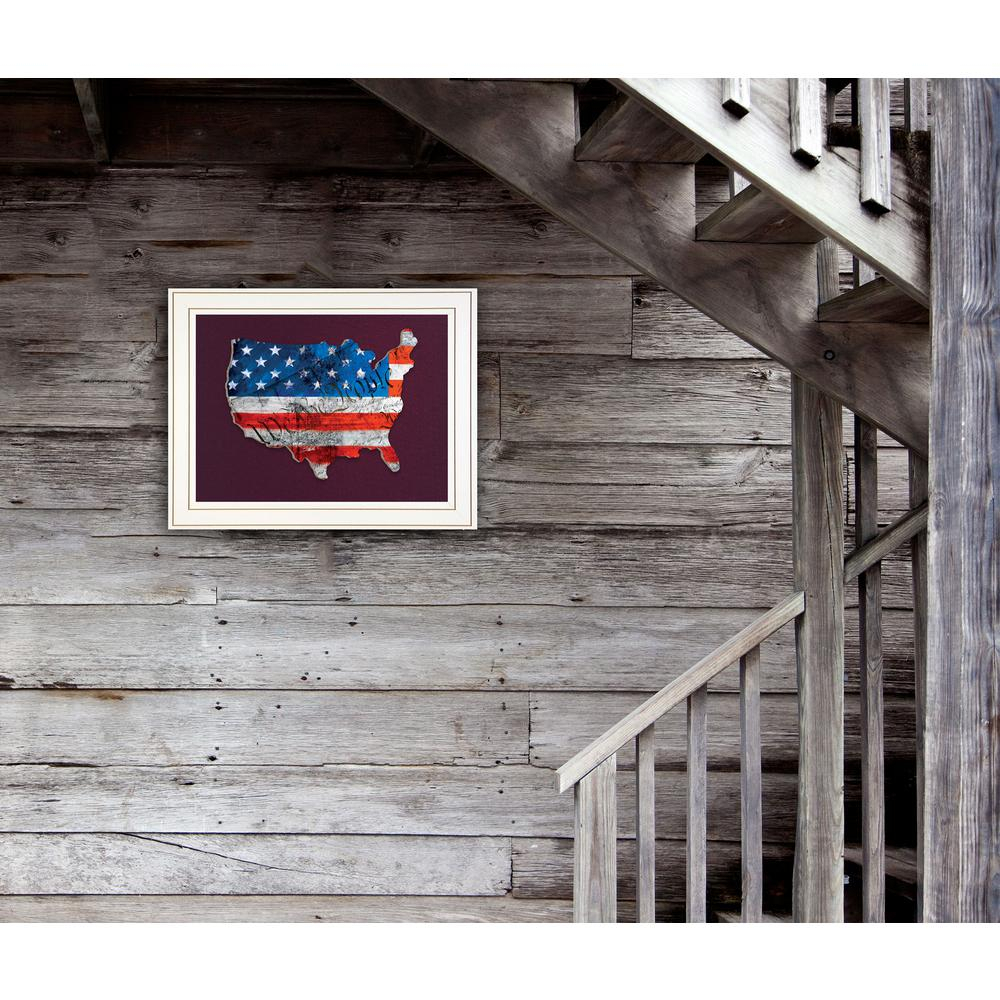 """""""wtp American Flag (We The People)""""tim Dardis Framed Wall Art With Regard To American Flag 3D Wall Decor (Image 1 of 30)"""