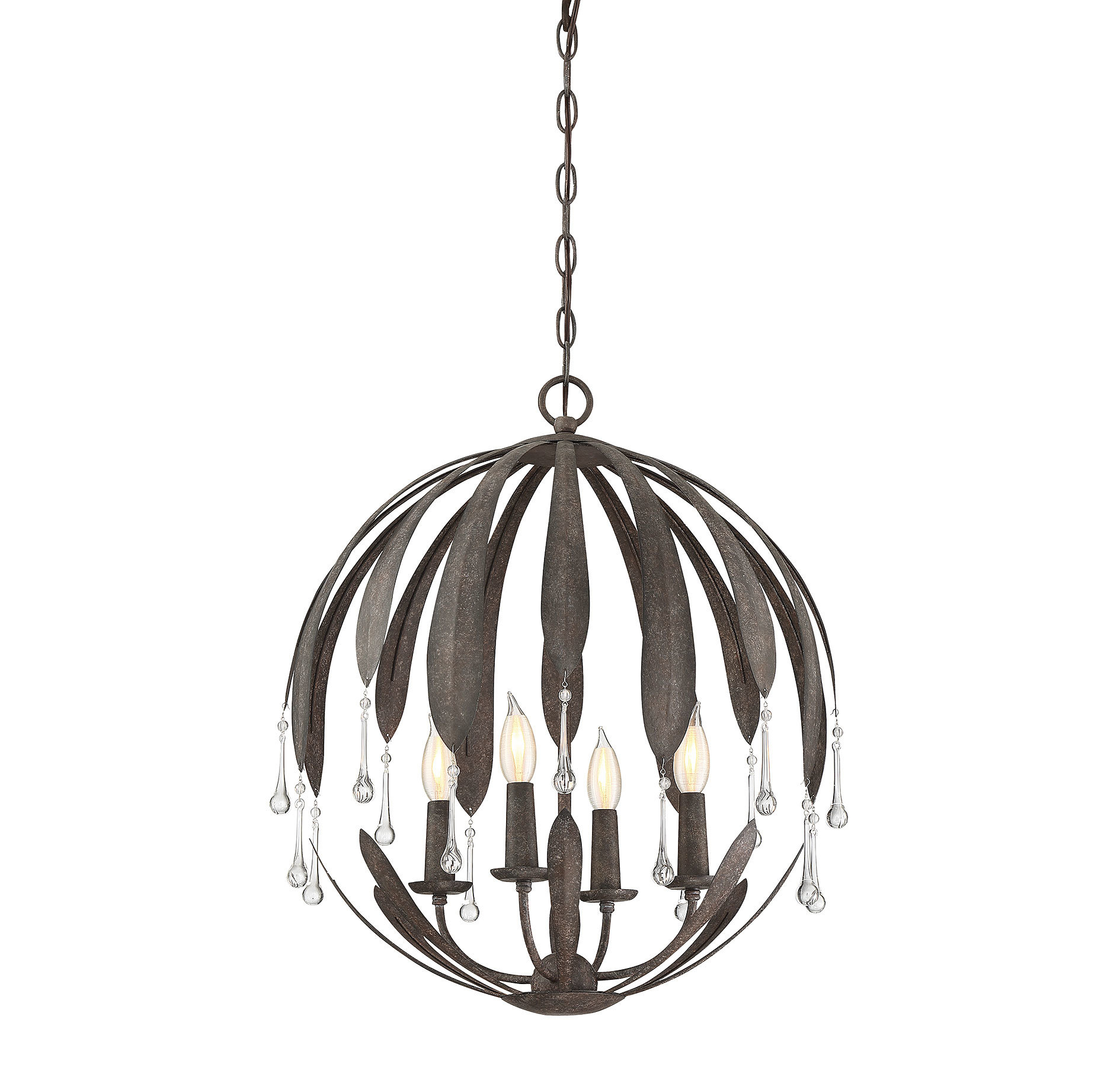 Wyant 4-Light Chandelier with regard to Morganti 4-Light Chandeliers (Image 29 of 30)