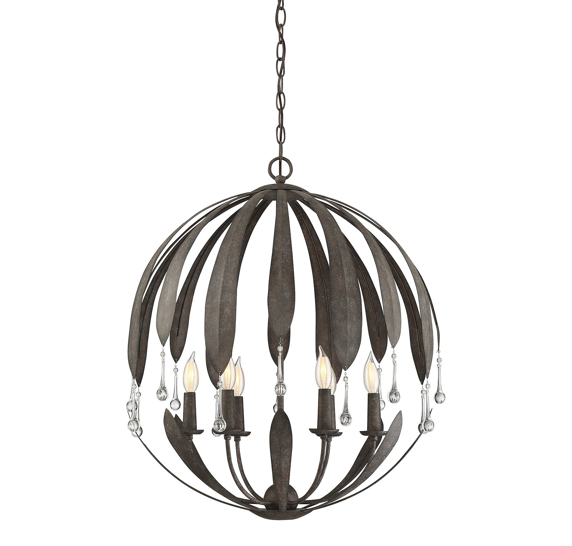 Wyant 6-Light Chandelier with Morganti 4-Light Chandeliers (Image 30 of 30)
