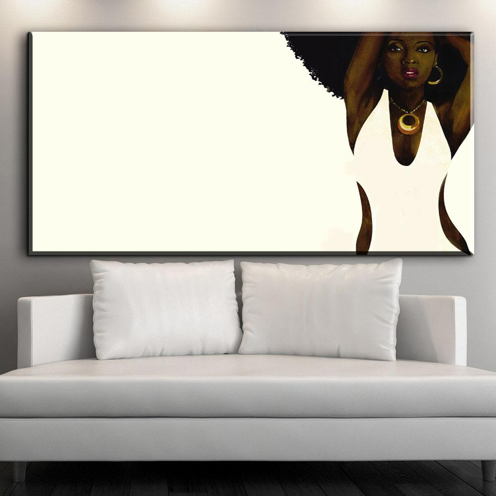 Xx708 Wandkunst Afroamerikaner Schwarz Abstrakte Porträtkunst Leinwand Afro  Frauen Poster Leinwand Malerei Für Room Wall Decor intended for This Is Us Wall Decor (Image 30 of 30)