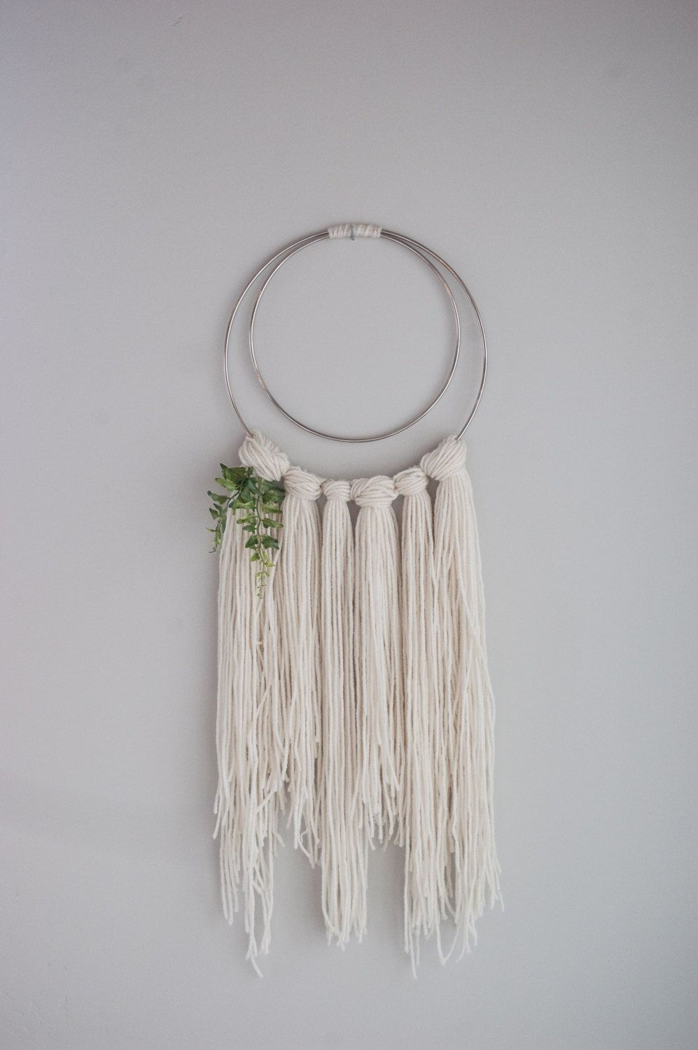 Yarn Wall Hanging Boho Wall Art Metal Ring Wall Hanging Intended For Rings Wall Decor (Photo 9 of 30)