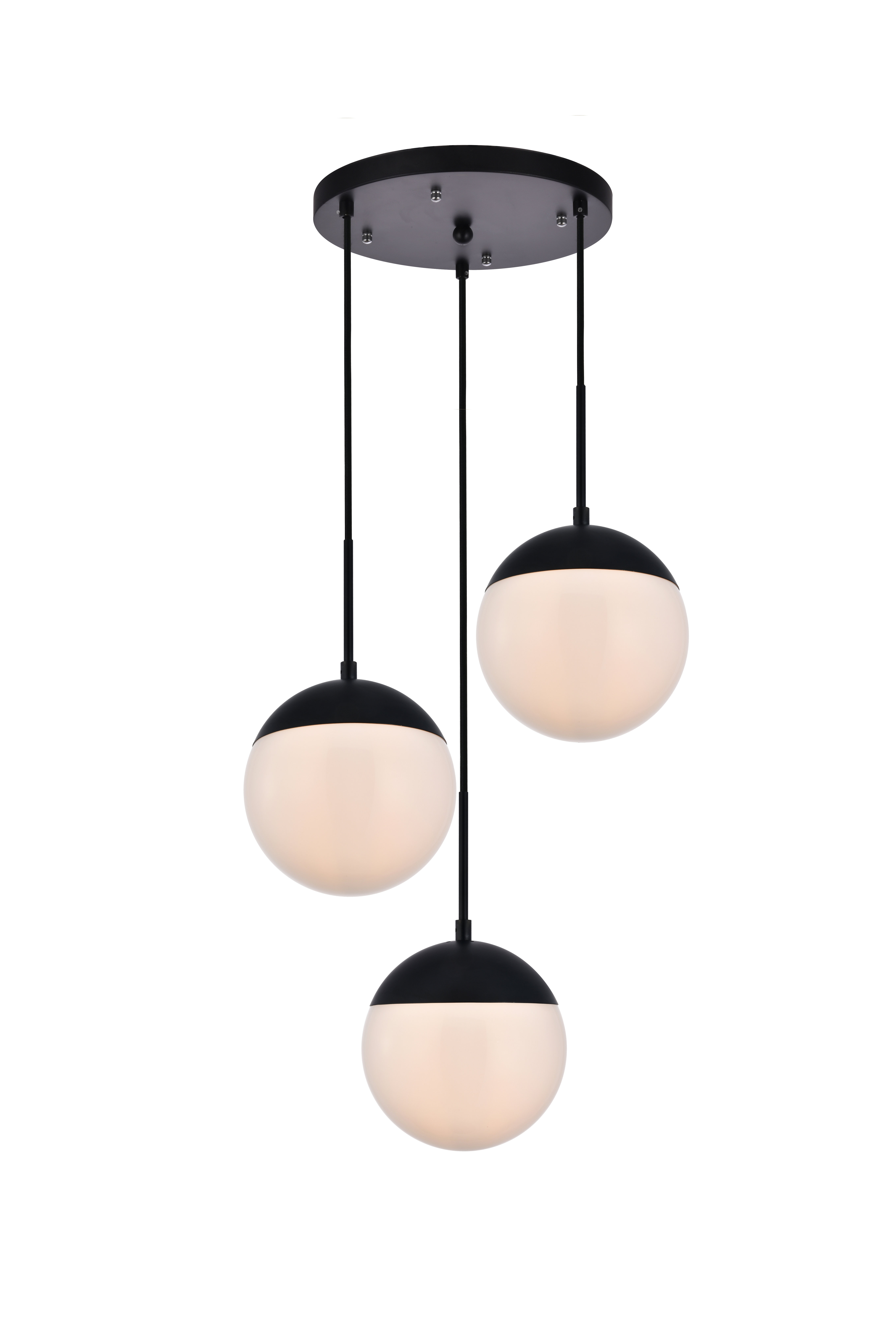 Yearby 3-Light Cluster Globe Pendant with regard to Berenice 3-Light Cluster Teardrop Pendants (Image 30 of 30)