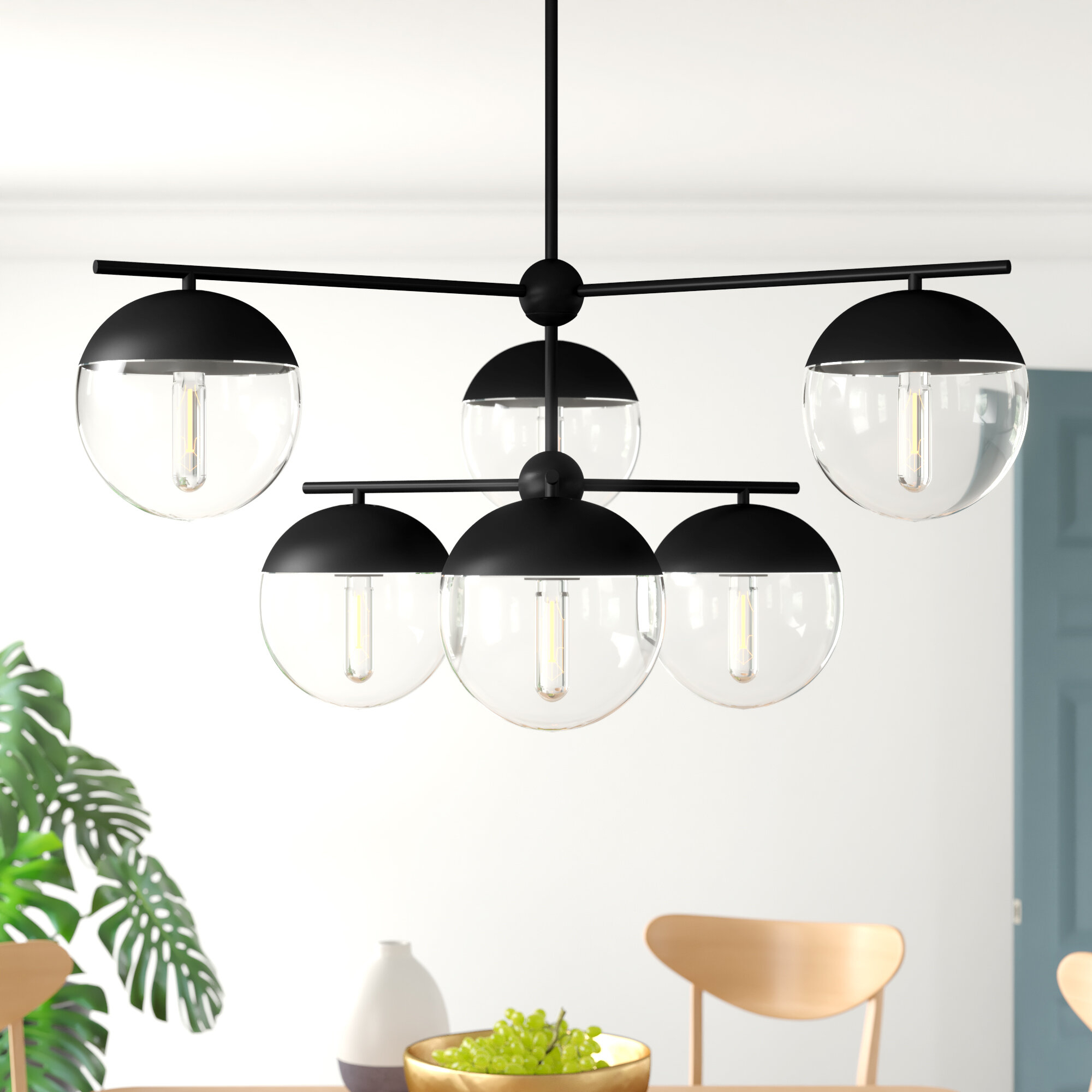 Yearby 6 Light Sputnik Chandelier Within Silvia 6 Light Sputnik Chandeliers (Gallery 8 of 30)