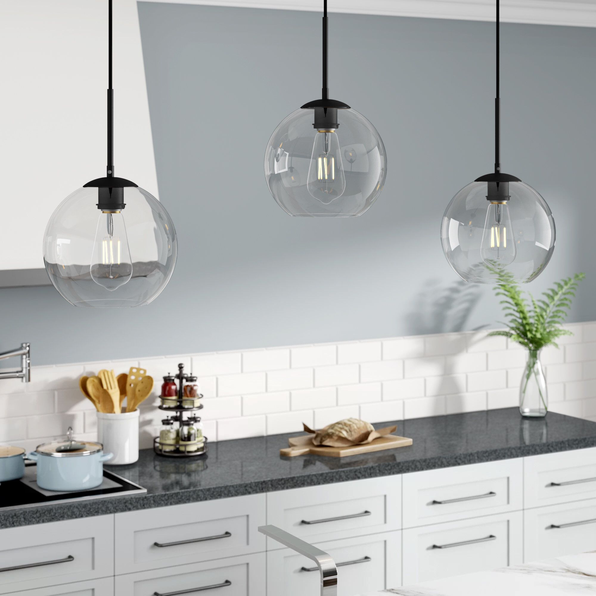 Yearwood 3 Light Kitchen Island Pendant | A Kitchen Island With Neal 1 Light Single Teardrop Pendants (View 14 of 30)