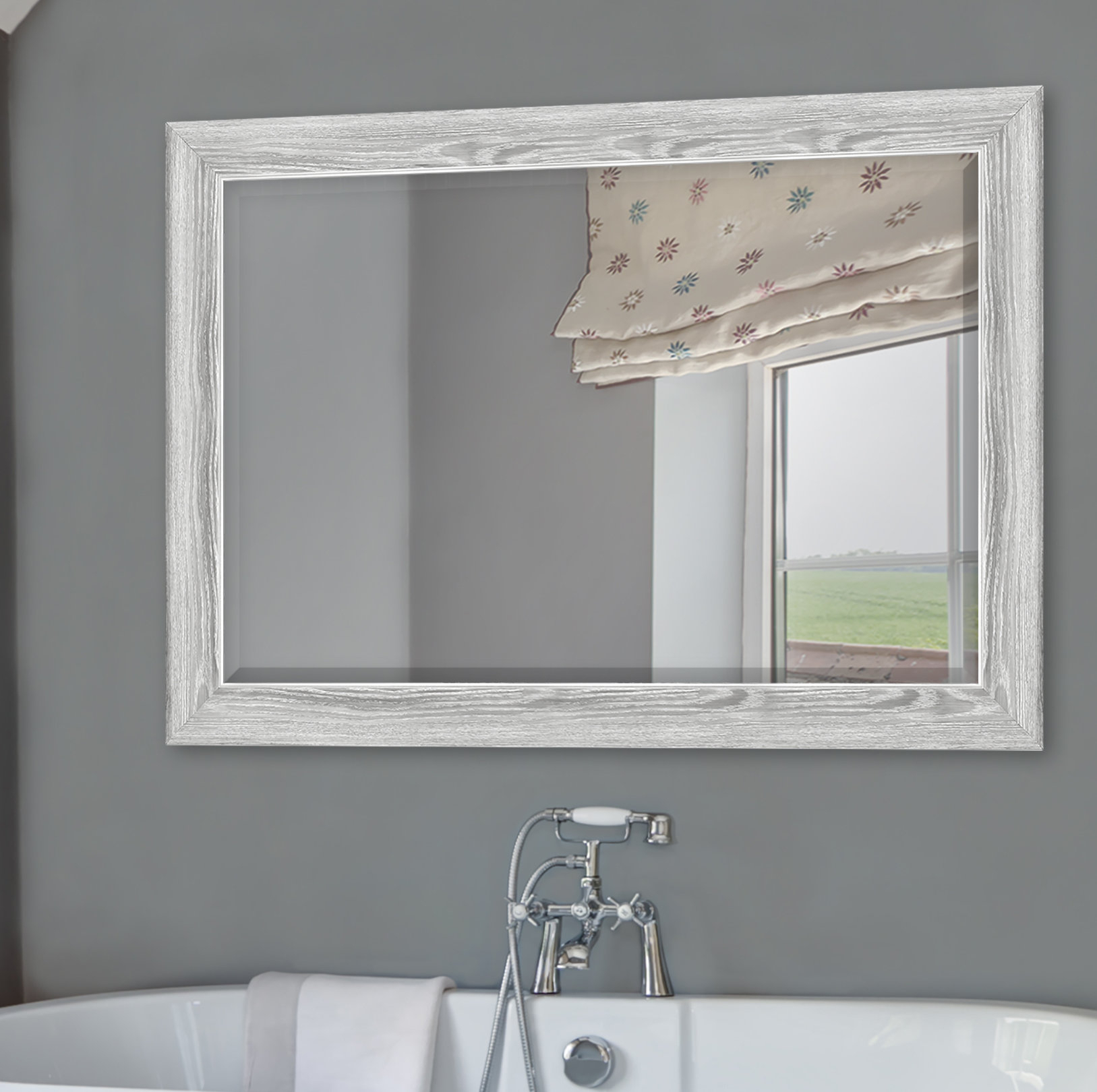 Yeung Curvature Bathroom/vanity Mirror With Regard To Landover Rustic Distressed Bathroom/vanity Mirrors (View 30 of 30)