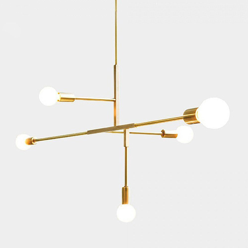 Yoka Modern Metal Pendant Lighting Hanging Lamp Ceiling Within Johanne 6 Light Sputnik Chandeliers (Photo 17 of 30)