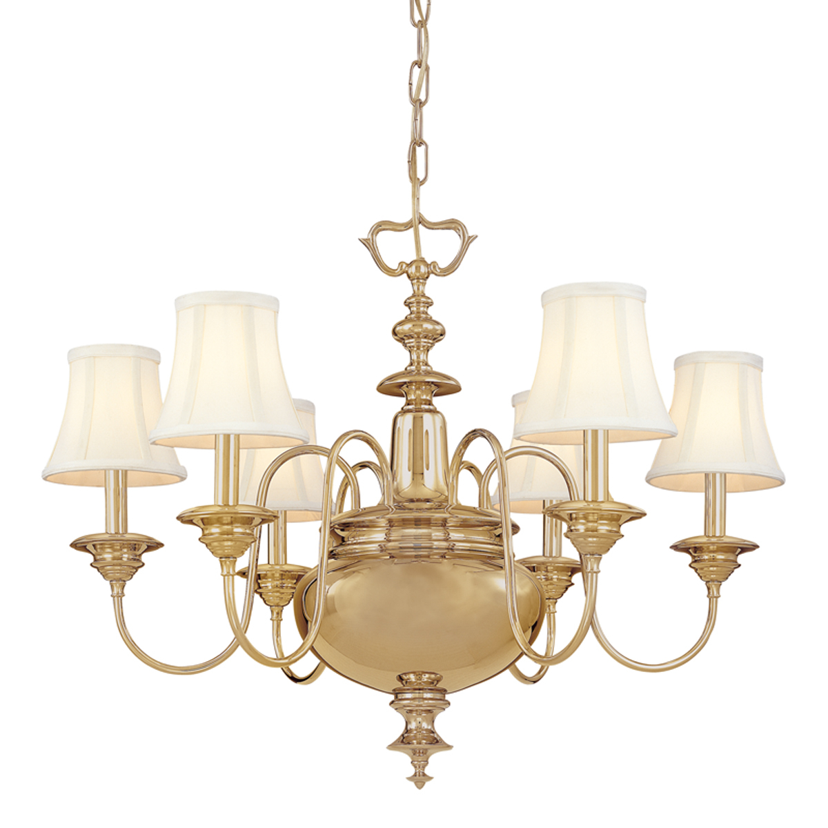 Yorktown 6 Light Chandelier For Millbrook 5 Light Shaded Chandeliers (View 21 of 30)