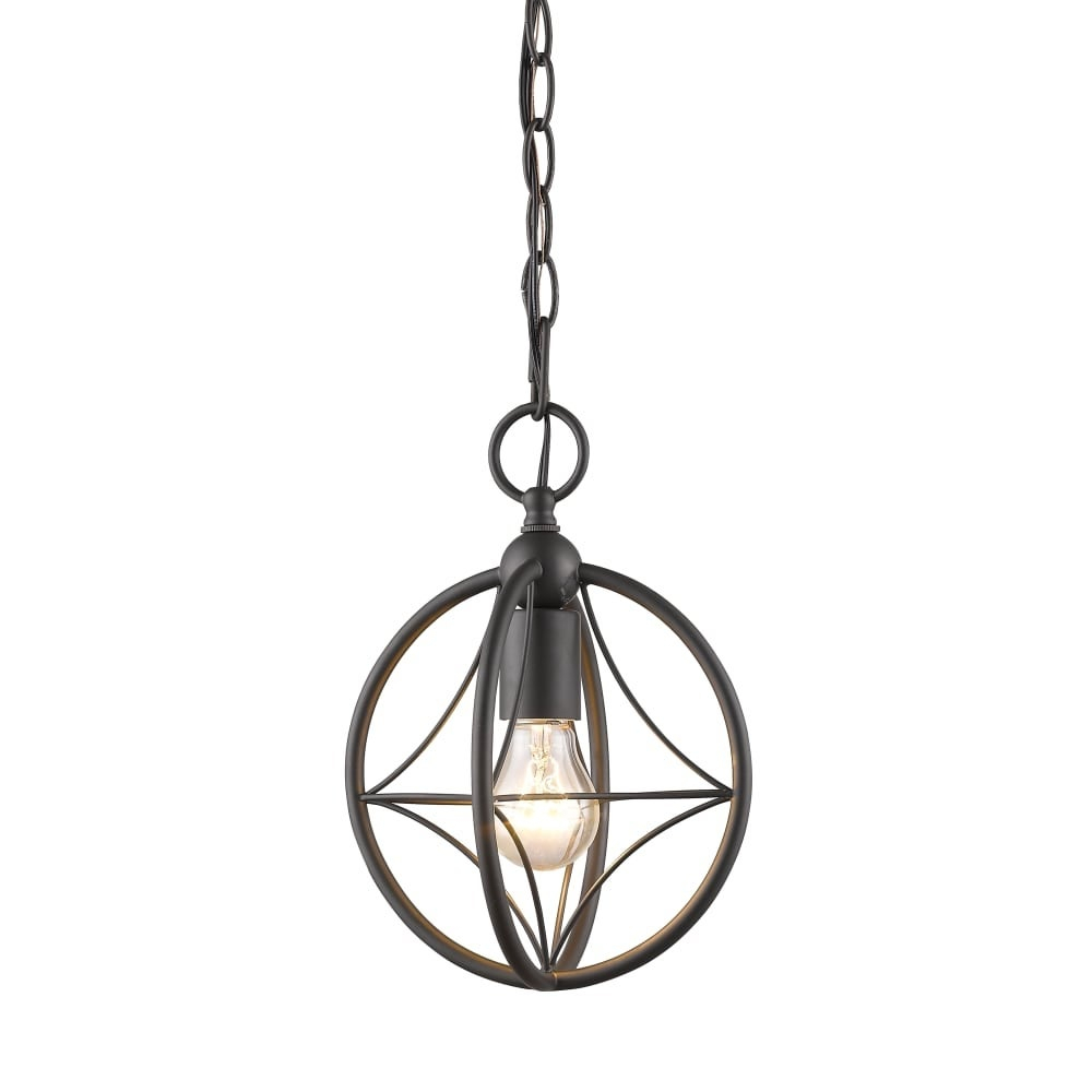 "Z-Lite 452-8 Cortez Single Light 8"" Wide Mini Pendant With Suspended Star  Design with 1-Light Single Star Pendants (Image 30 of 30)"
