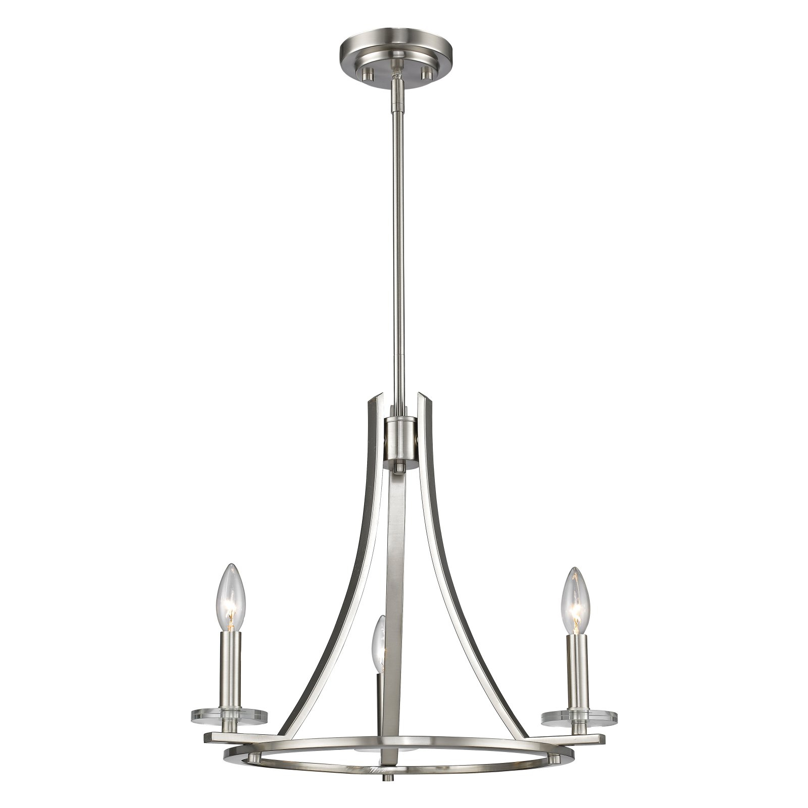 Z Lite Verona 3 Light Chandelier, Bronze For Clea 3 Light Crystal Chandeliers (View 30 of 30)