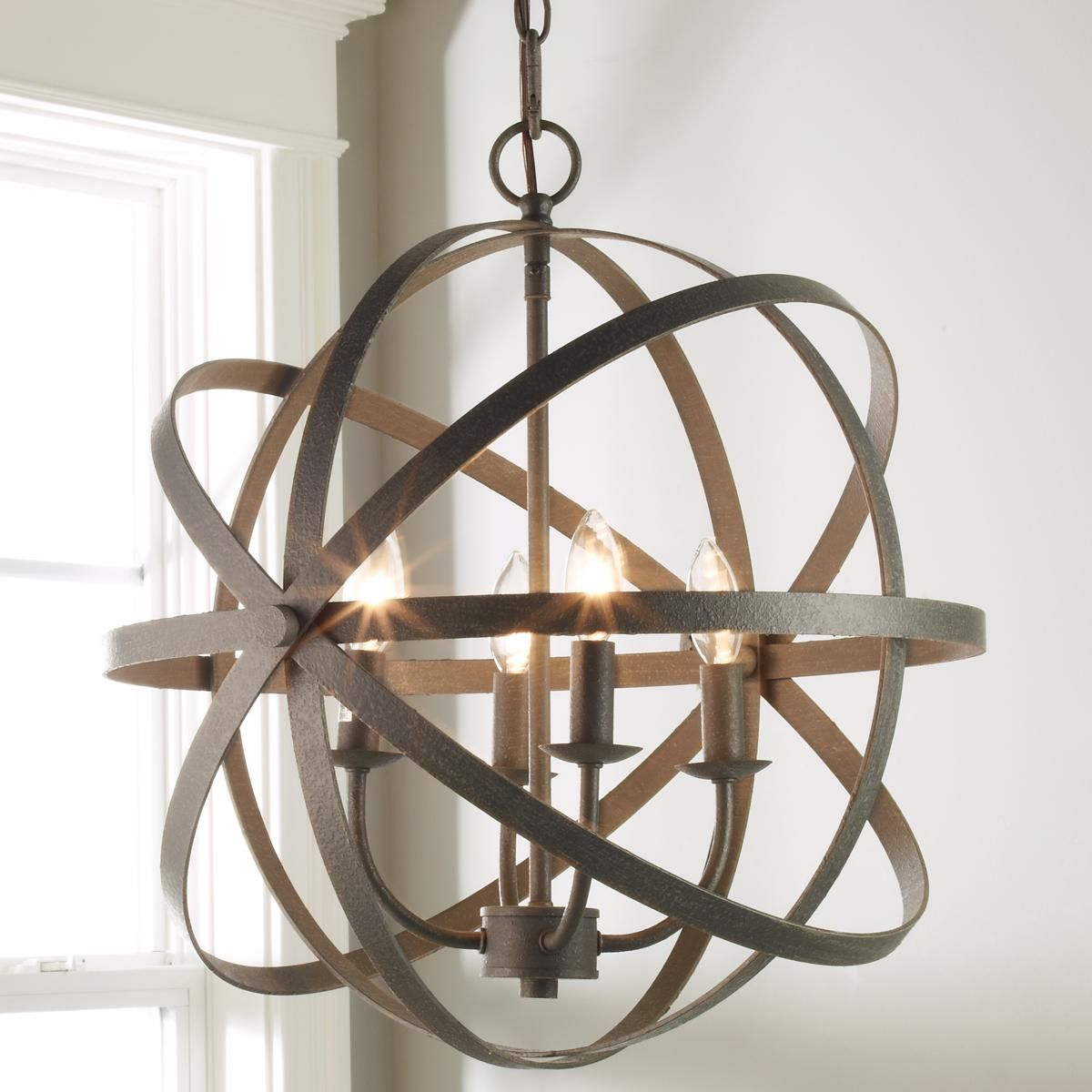Zinc Orbit Globe Chandelier - 4 Light | My Style In 2019 with Joon 6-Light Globe Chandeliers (Image 29 of 30)