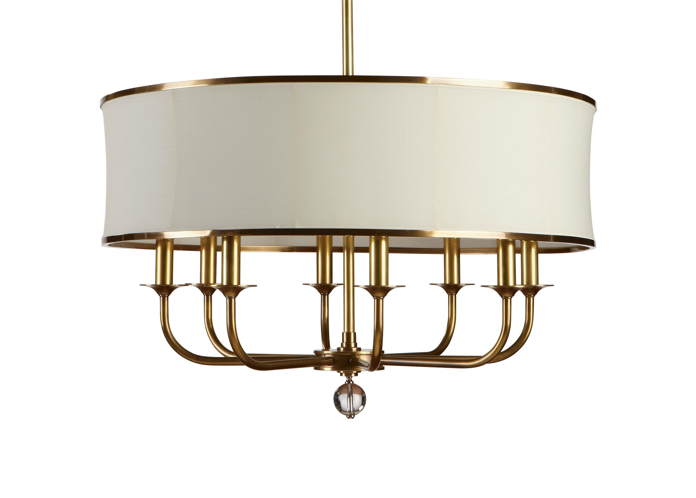 Zoe Eight Light Brass Chandelier   Chandeliers   Ethan Allen Within Shaylee 6 Light Candle Style Chandeliers (View 30 of 30)