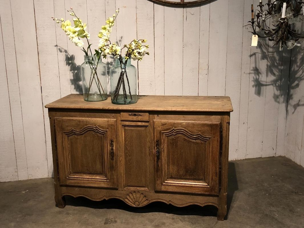 18Th Century Bleached Oak Country French Buffet   Buffets Intended For French Oak Buffets (Photo 30 of 30)