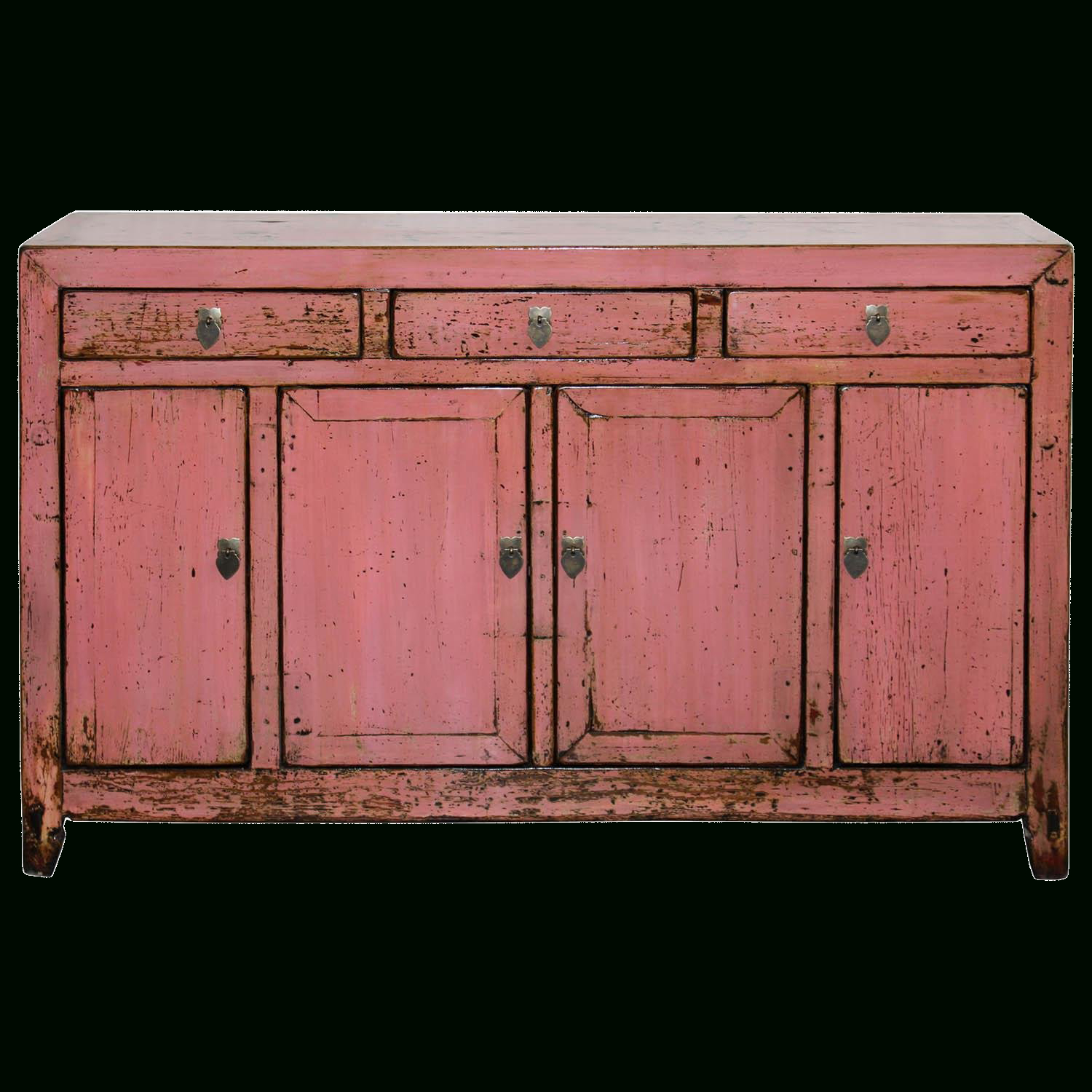 1900S Asian Antique Pink Sideboard In 2019 | Shh We Won't Inside Solana Sideboards (Gallery 7 of 30)