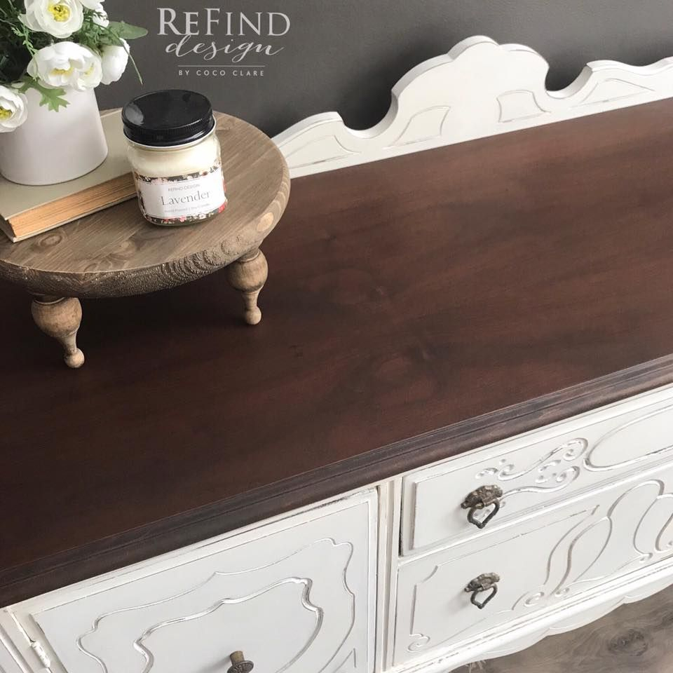 1920's Buffet In Medium Brown Dye Stain | Home Ideas | White With Regard To Medium Buffets With Wood Top (Photo 21 of 30)