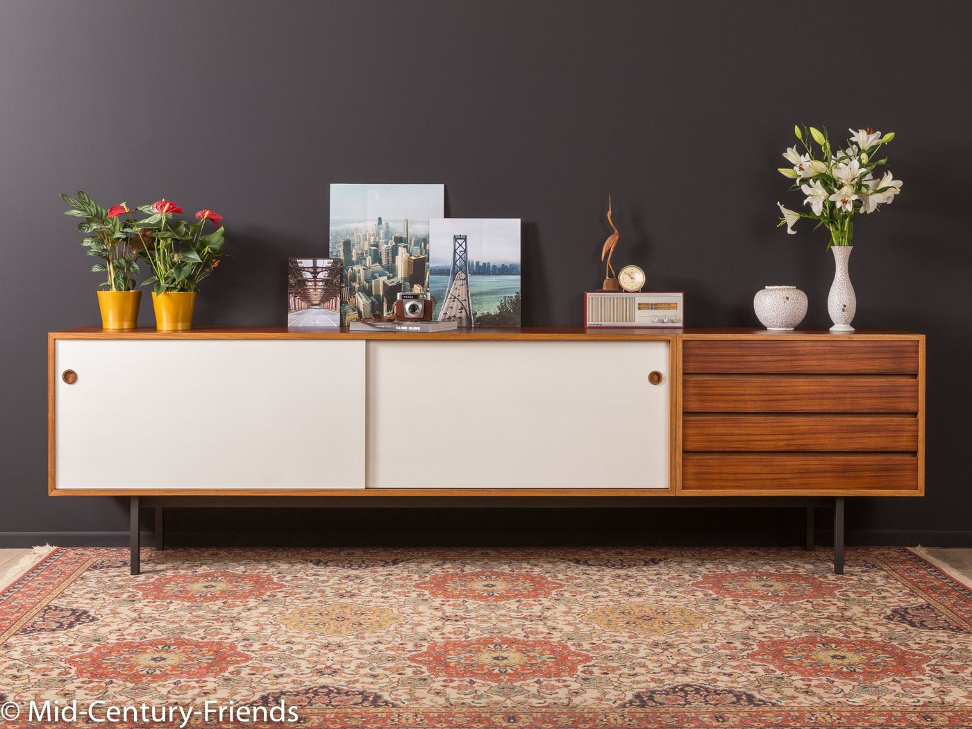 1960Er Jahre Sideboard, Wilhelm Renz|Mid Century Friends With Floral Beauty Credenzas (Gallery 25 of 30)