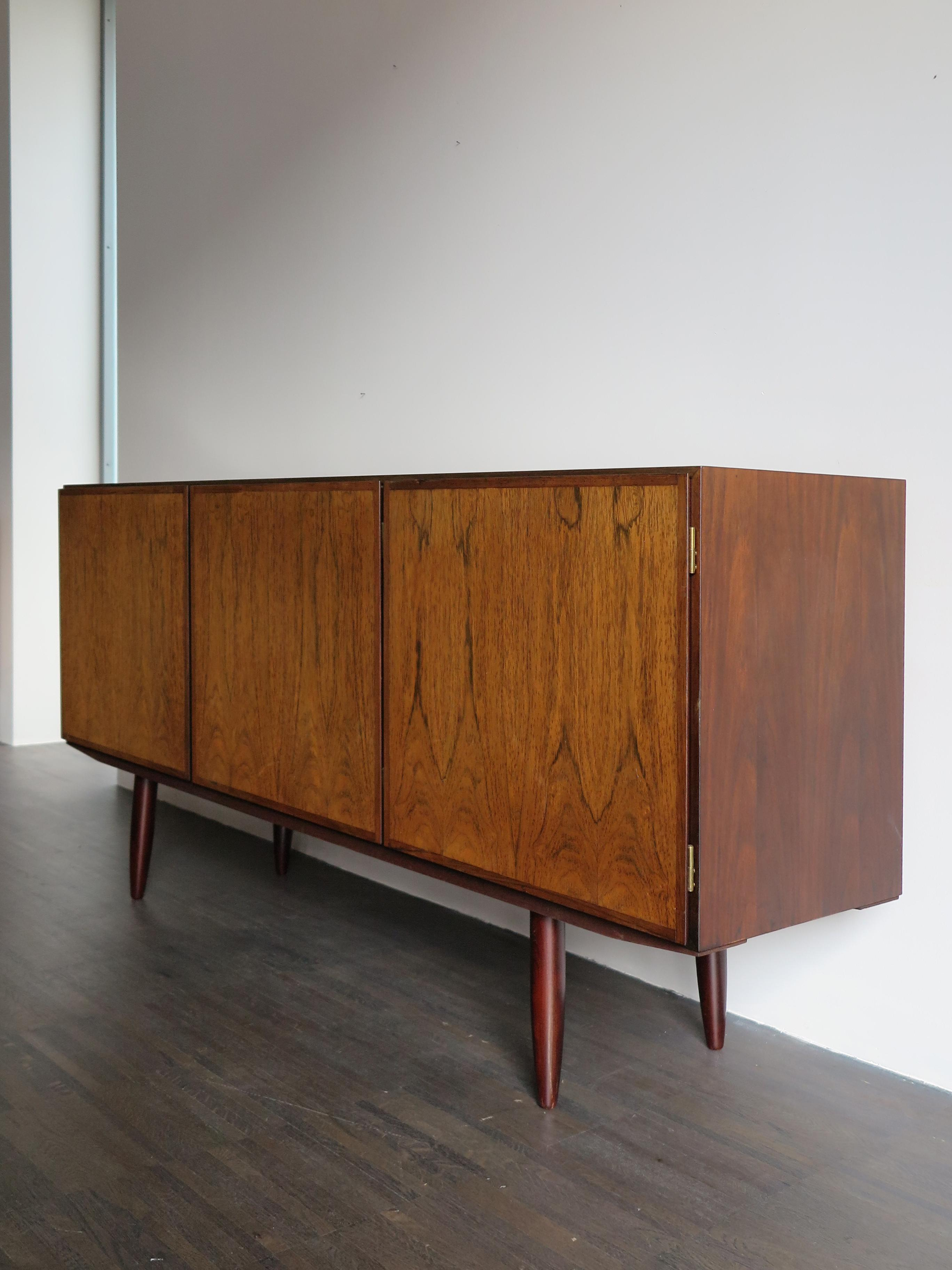 1960S Scandinavian Rosewood Midcentury Modern Sideboard Pertaining To Mid Century Modern Scandinavian Style Buffets (Gallery 17 of 30)