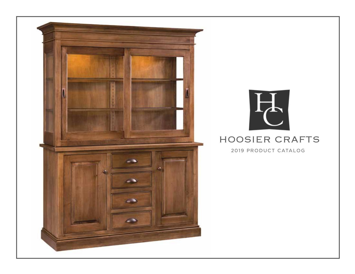 2019 Hoosier Craft – Hutch Catalogpinpoint Marketing – Issuu Pertaining To 2 Shelf Buffets With Curved Legs (View 2 of 30)