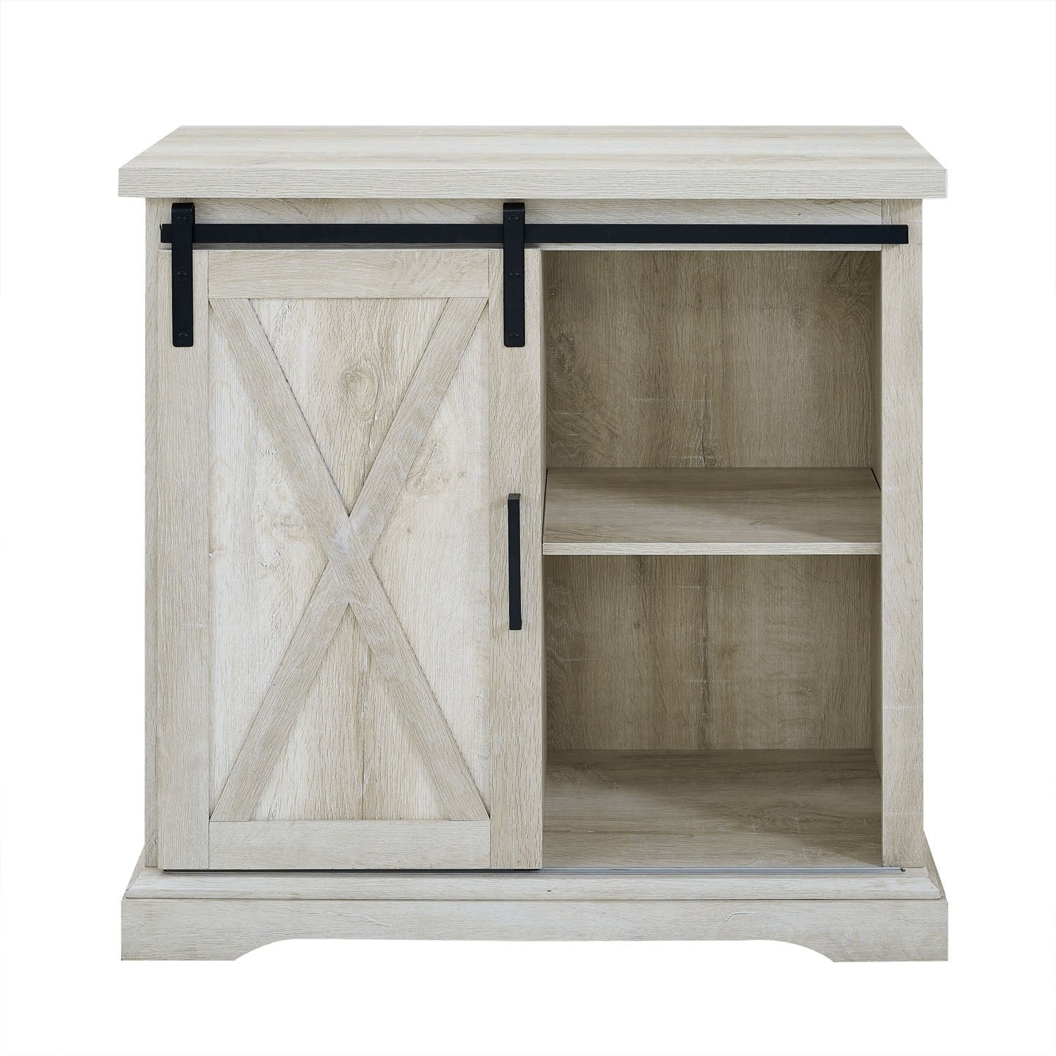 "32"" Rustic Farmhouse Wood Buffet With Storage Cabinet - White Oak - N/a in Saucedo Rustic White Buffets (Image 1 of 30)"