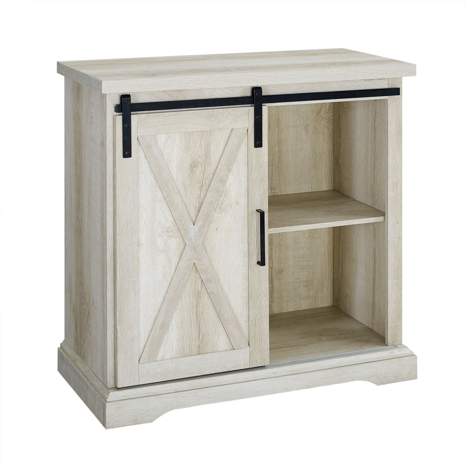 "32"" Rustic Farmhouse Wood Buffet With Storage Cabinet - White Oak - N/a throughout Saucedo Rustic White Buffets (Image 2 of 30)"