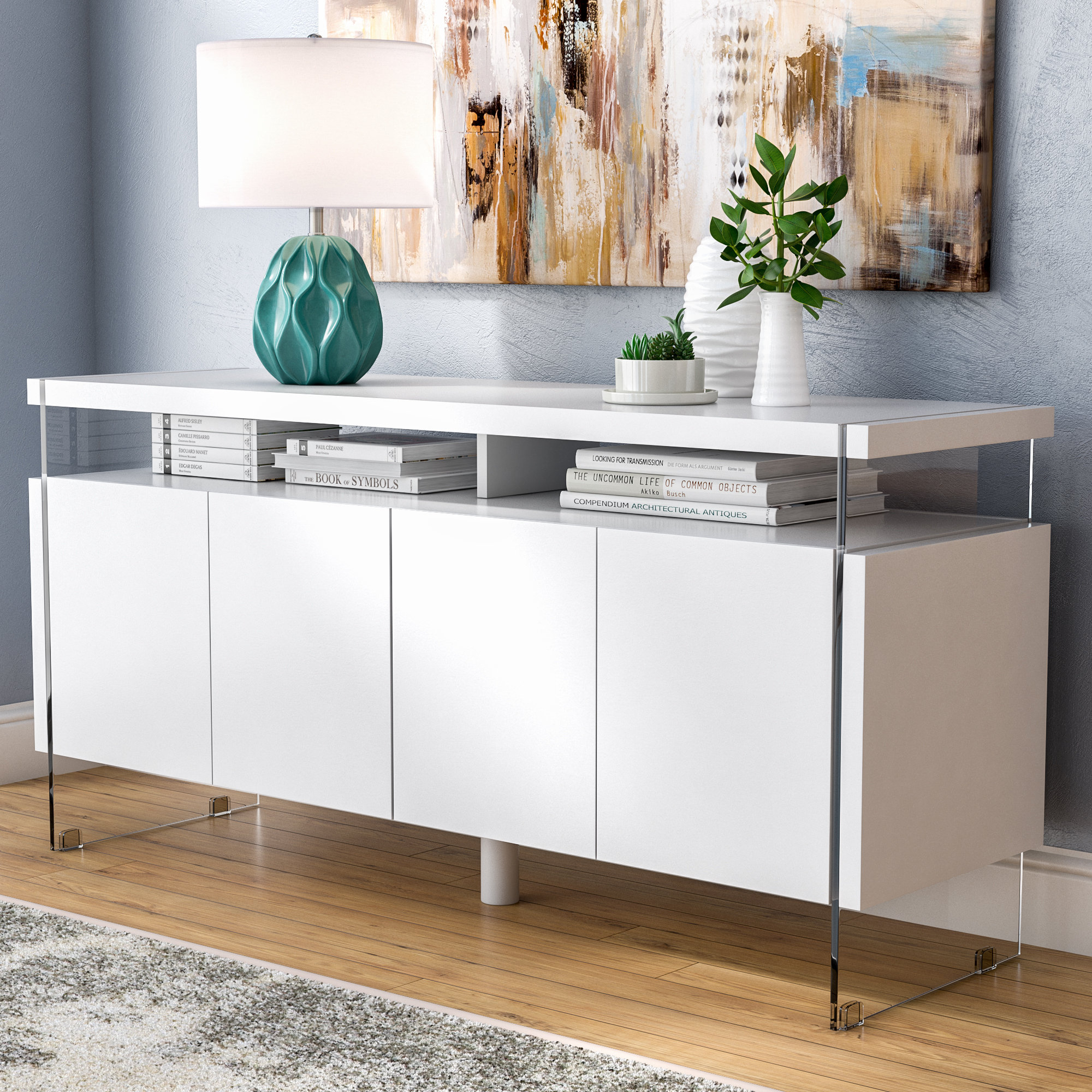 4 Door Credenza You'll Love In 2019 | Wayfair Intended For Steinhatchee Reclaimed Pine 4 Door Sideboards (View 1 of 30)