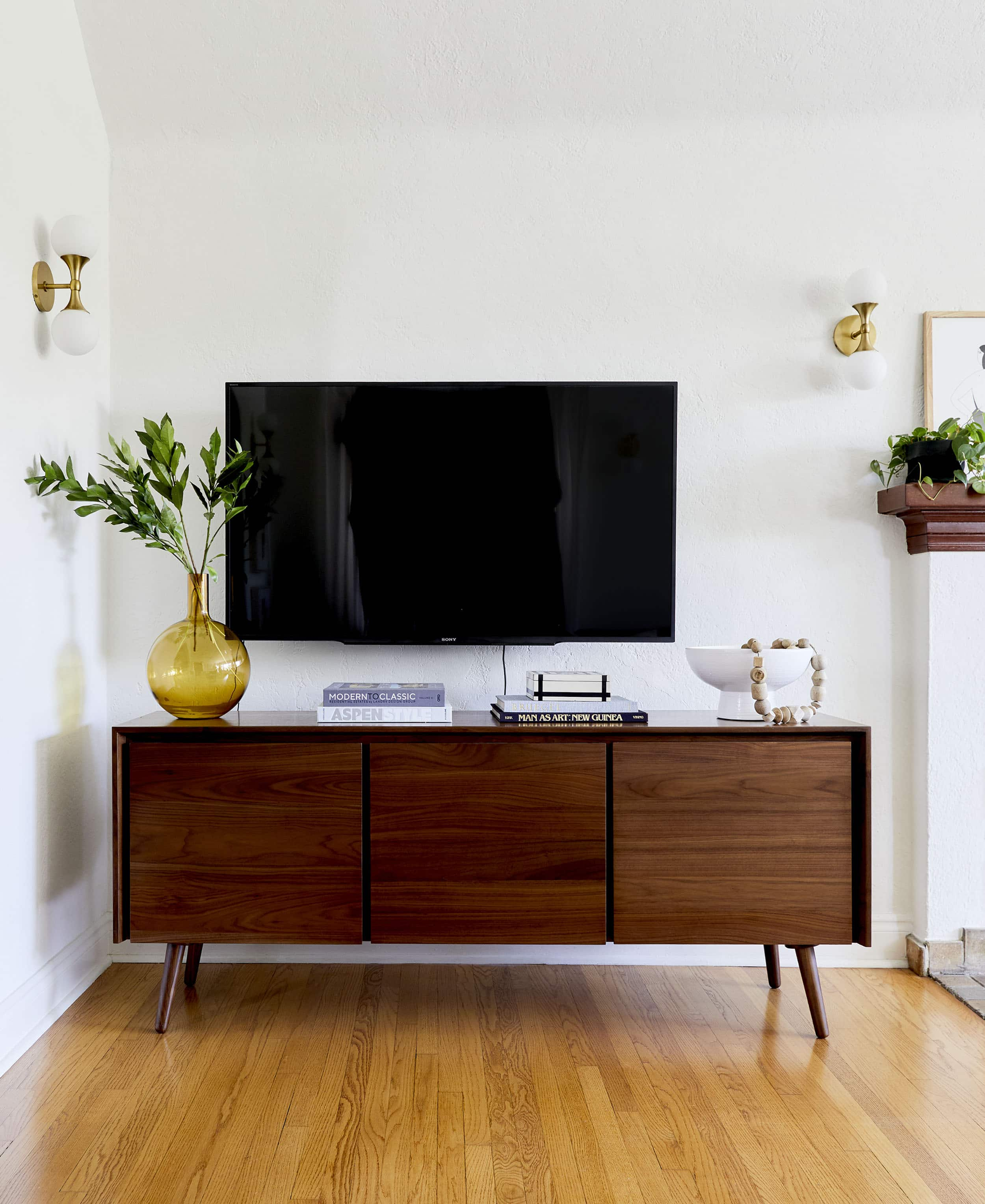 """4 Ways To Style That Credenza For """"real Life"""" + Shop Our with regard to Multi Colored Geometric Shapes Credenzas (Image 3 of 30)"""