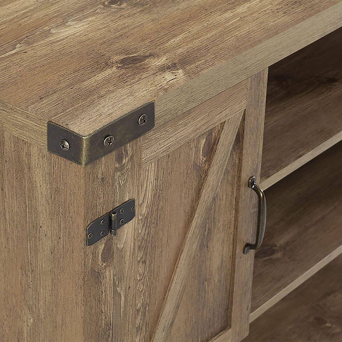 52 Inch Barn Door Buffet Table Console Tv Stand – Barnwoodwalker Edison Regarding Espresso Sliding Door Stackable Buffets (View 14 of 30)