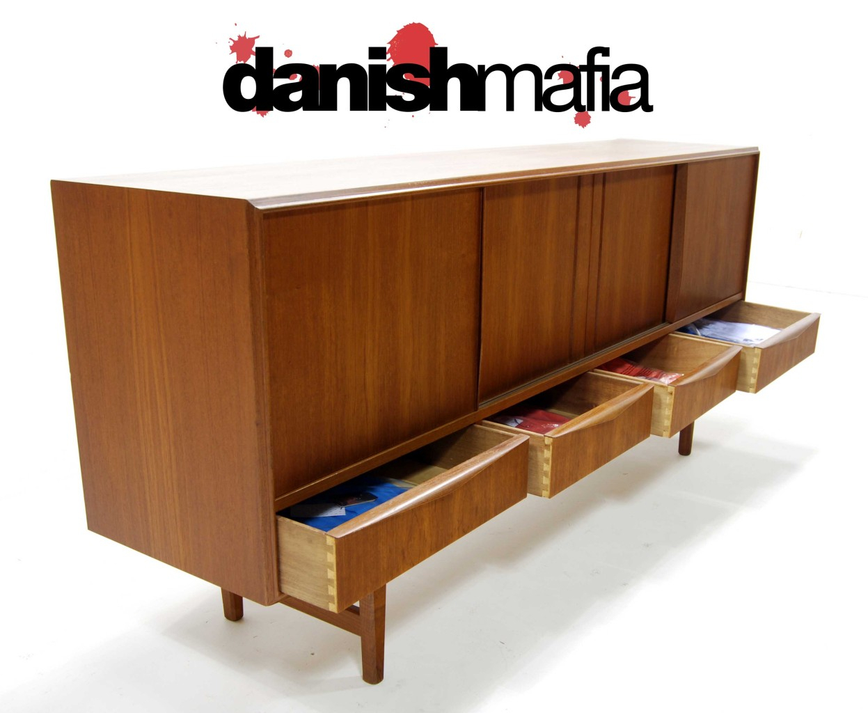 60's Mid Century Danish Modern Teak Dining Credenza Within Modern Teak Buffets (Photo 12 of 30)