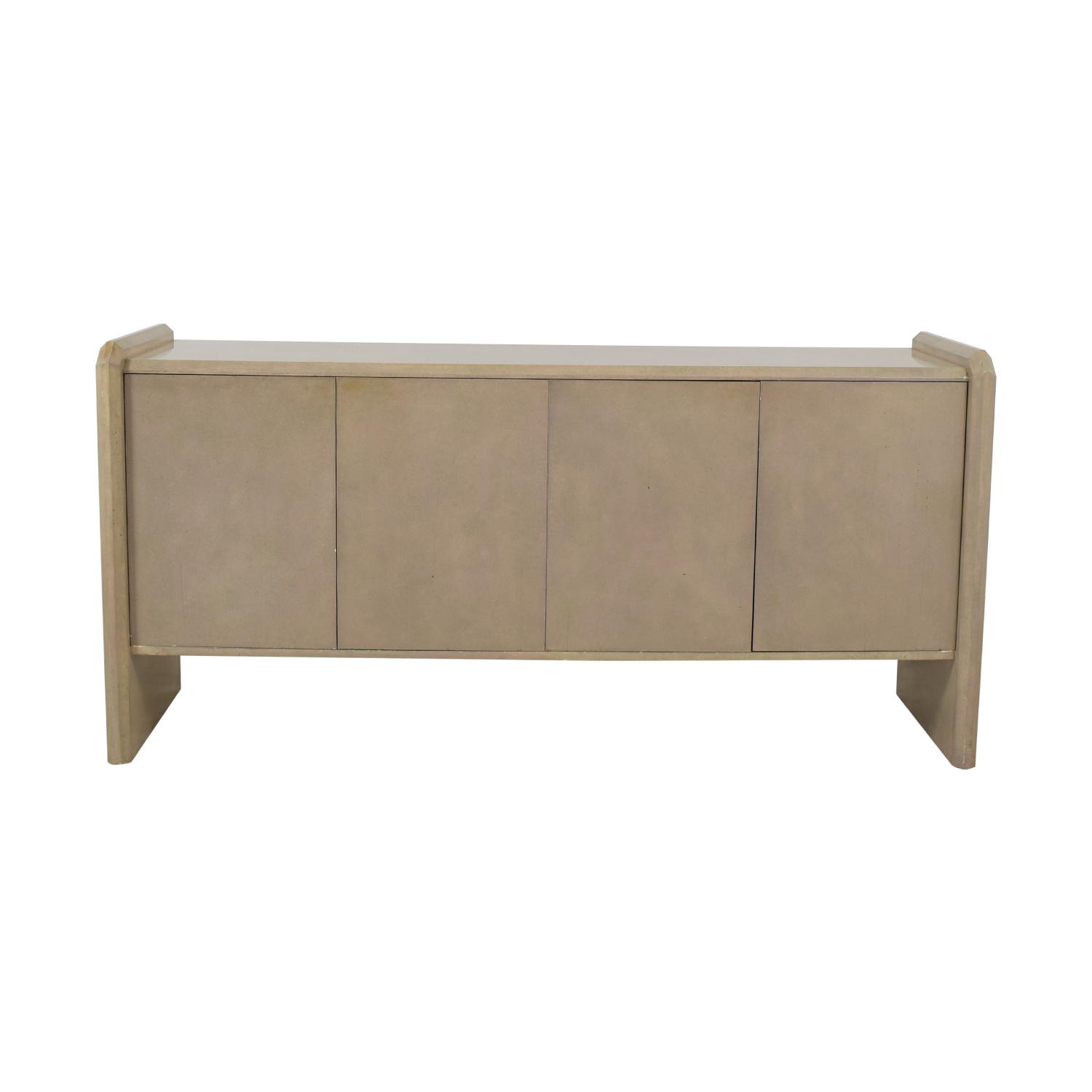 81% Off – Blush Pink Lacquer Entryway Credenza / Storage Pertaining To Blush Deco Credenzas (Gallery 7 of 30)