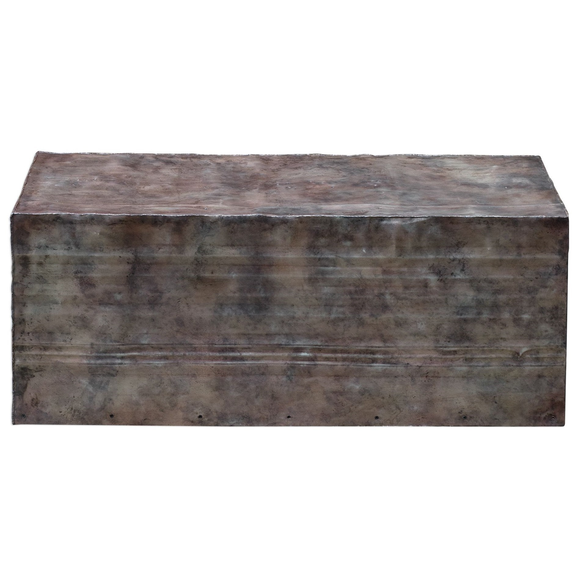 Accent Furniture - Occasional Tables Breck Natural Steel Coffee Table Uttermost At Dunk & Bright Furniture in Jessenia Sideboards (Image 2 of 30)