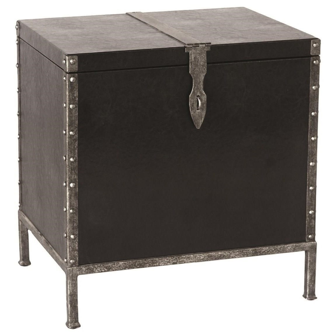 Accent Furniture - Occasional Tables Shawn Industrial Accent Table Uttermost At Dunk & Bright Furniture inside Jessenia Sideboards (Image 3 of 30)