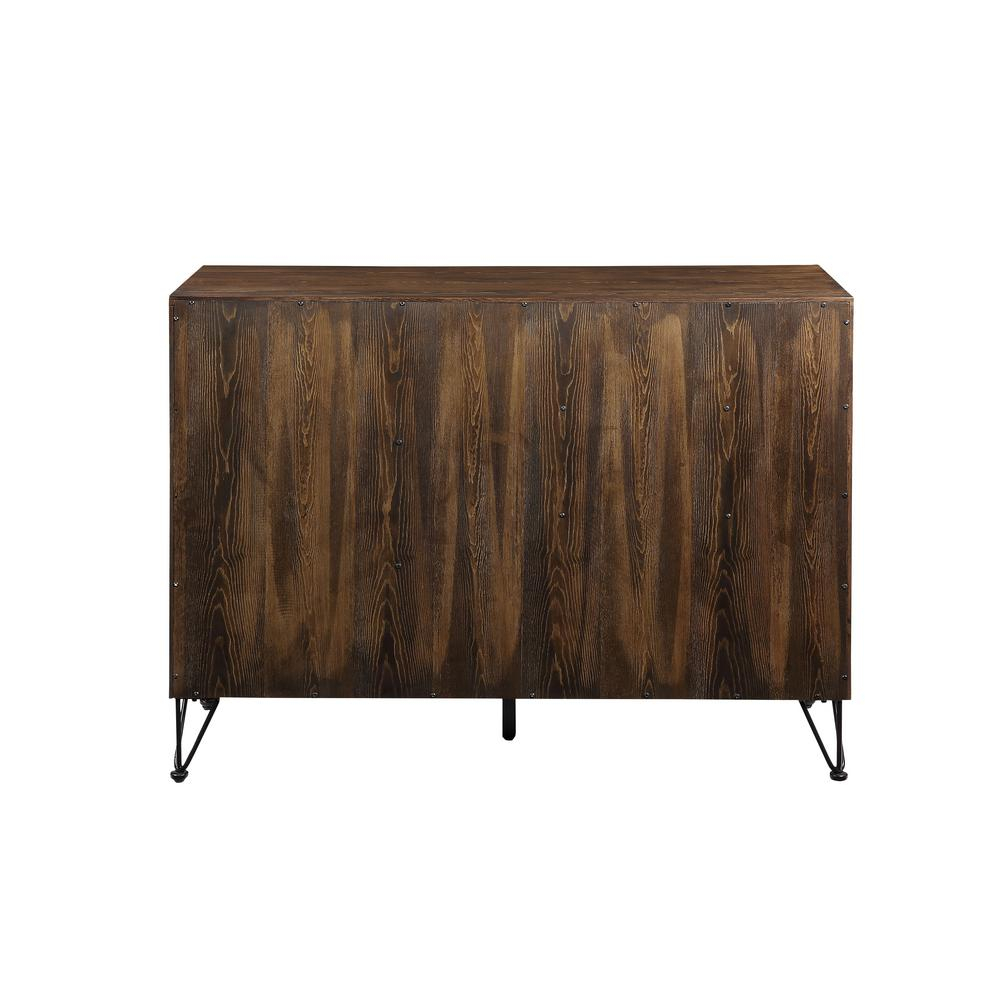 Acme Furniture Garron Walnut And Black Server 70739 – The Intended For Industrial Cement Like Buffets (View 1 of 30)